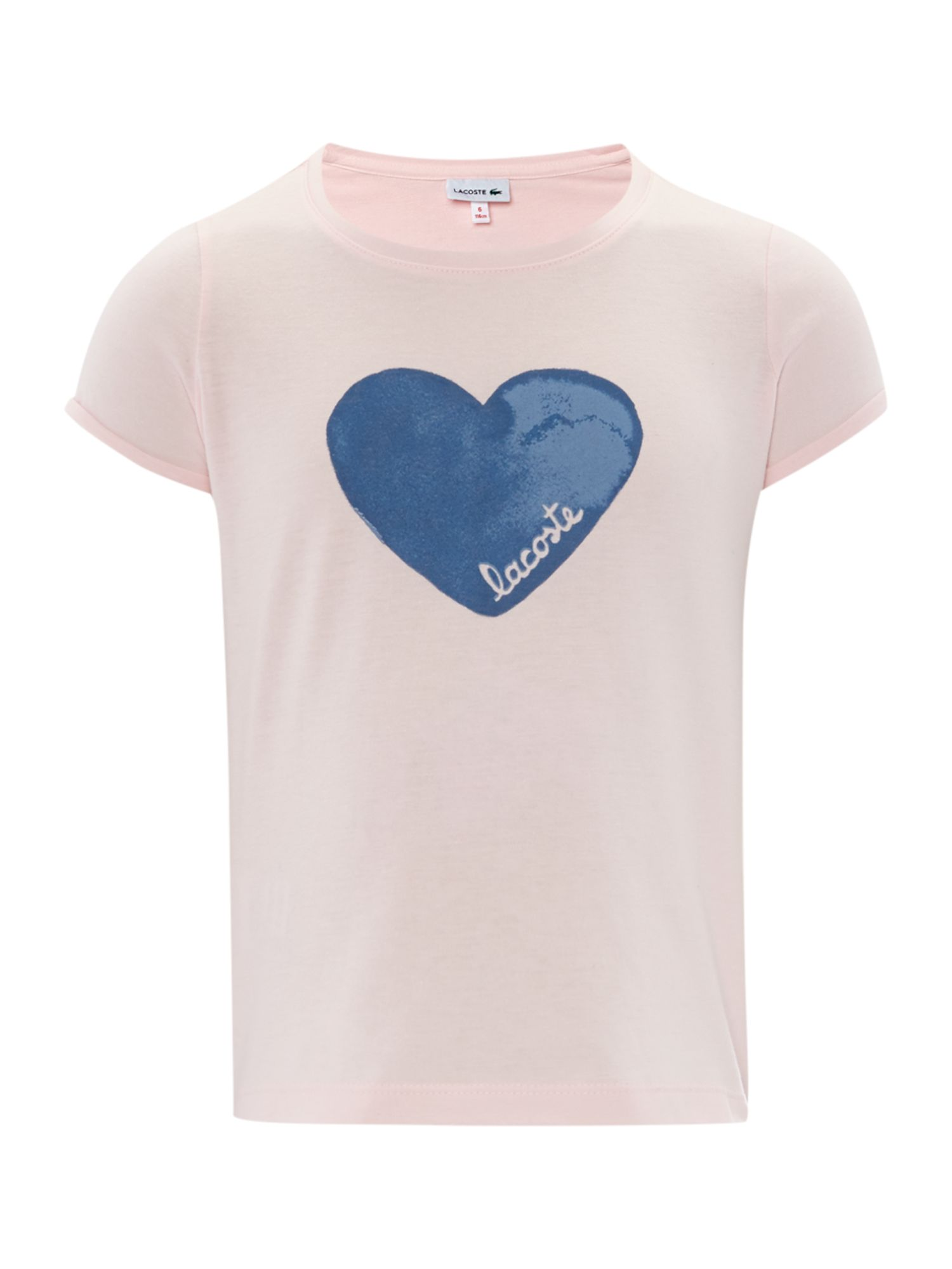 Girls heart print t-shirt