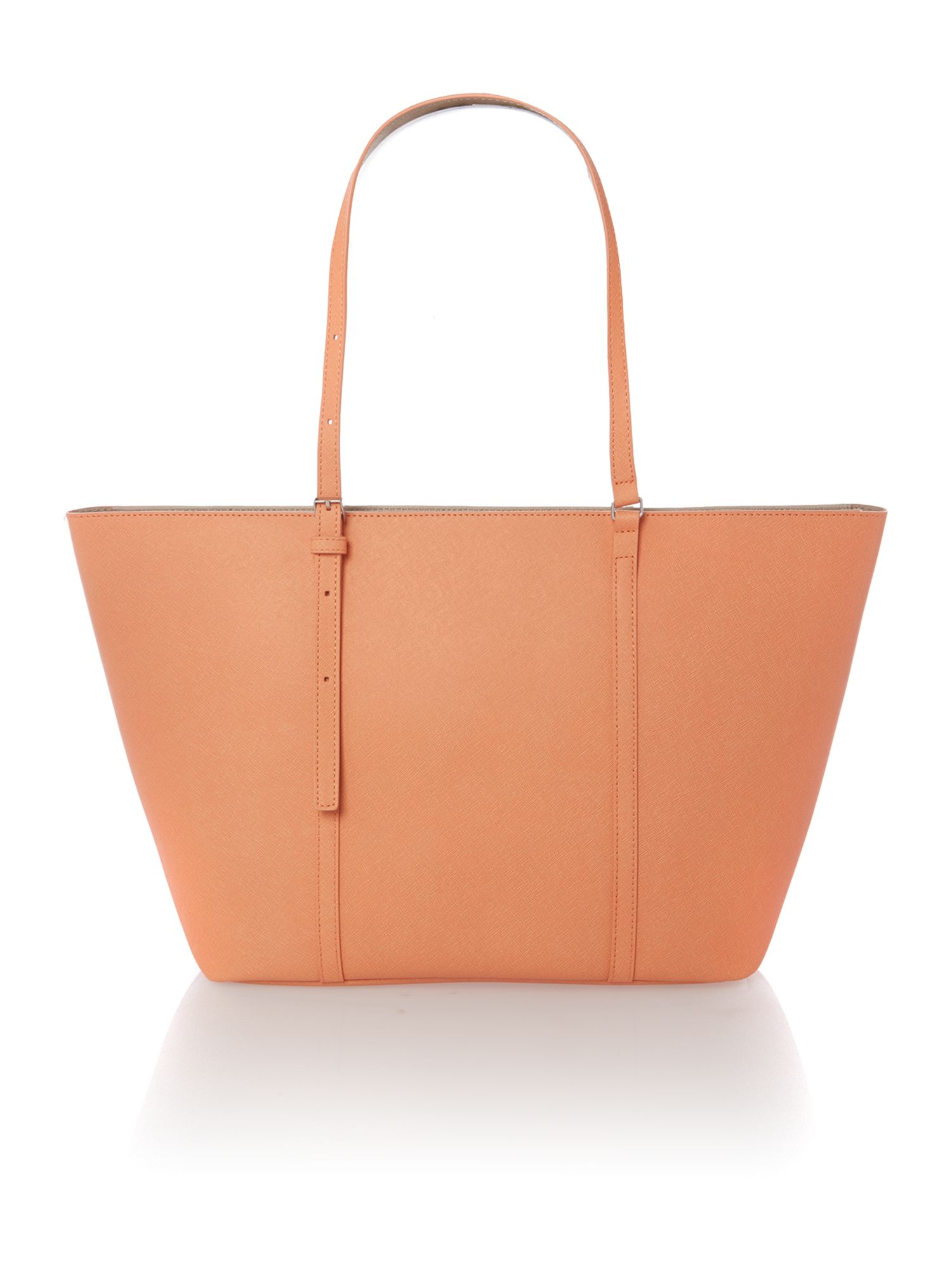 Sofie large coral tote bag