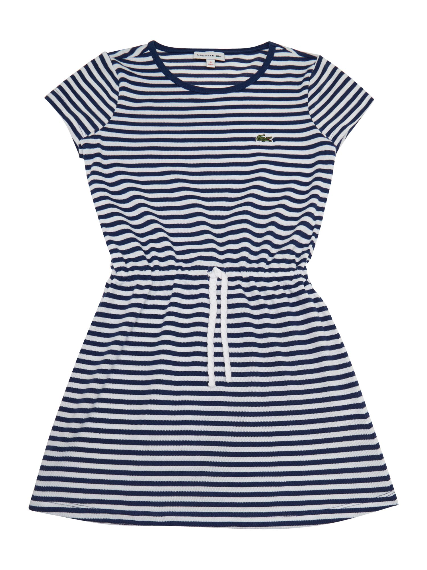 Girls tie waist stripe dress