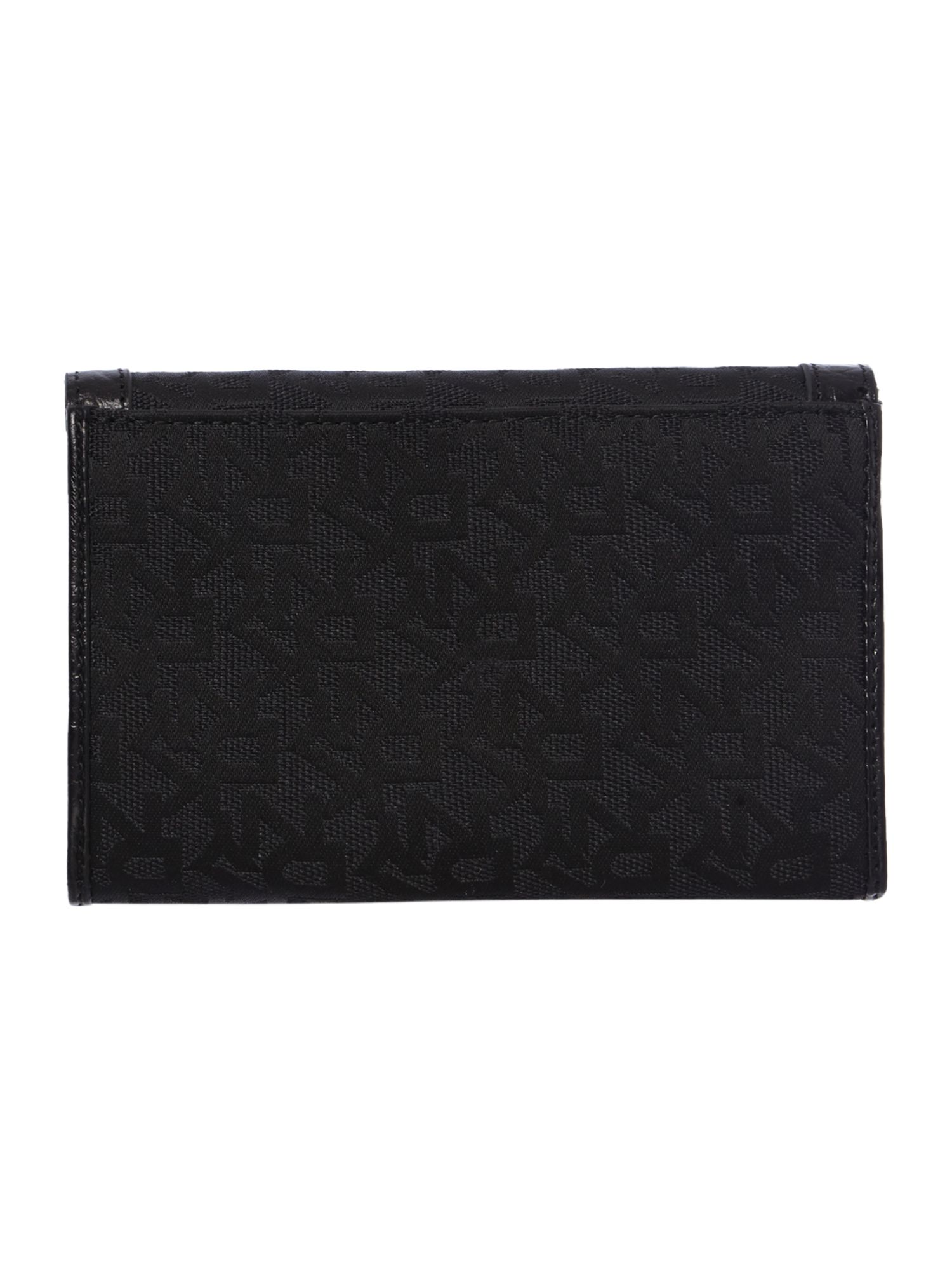 French Grain black flap over purse