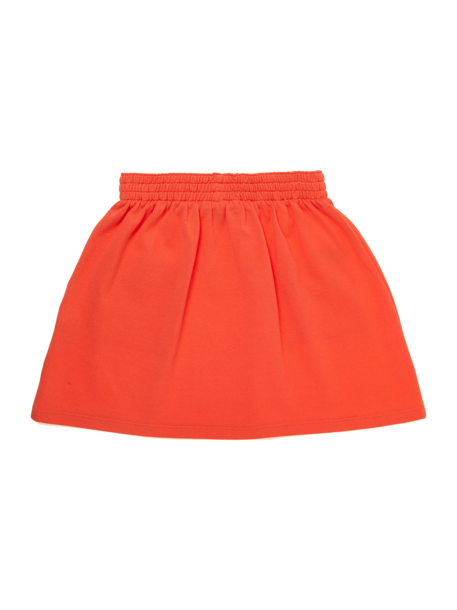 Girls pique pocket skirt