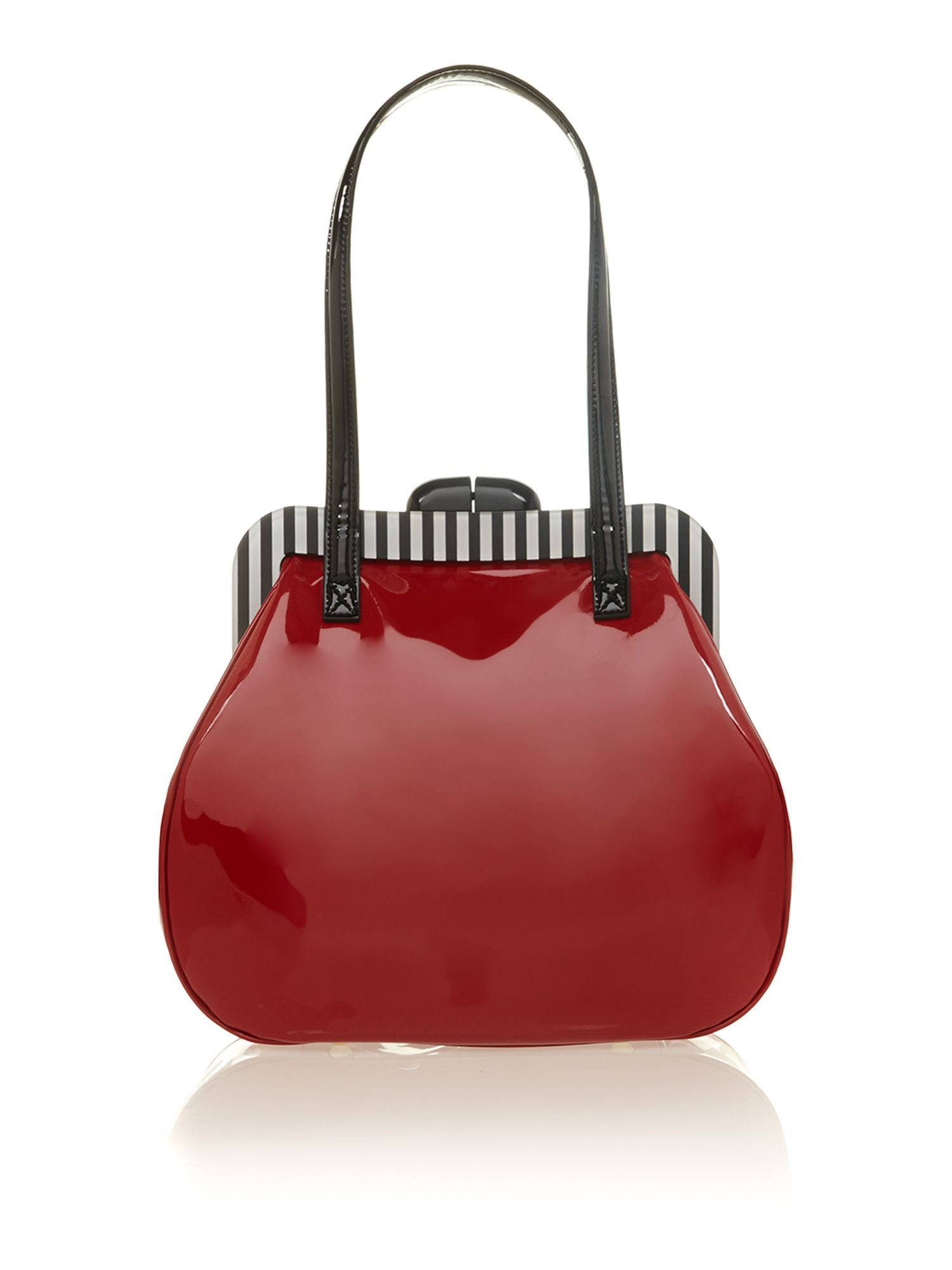 Pollyanna red patent shoulder bag