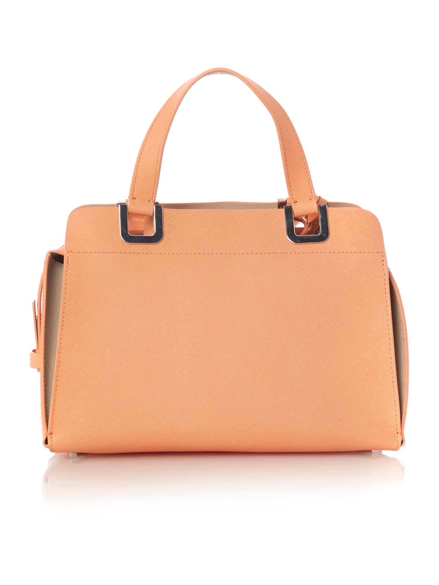 Sofie small coral bowling bag