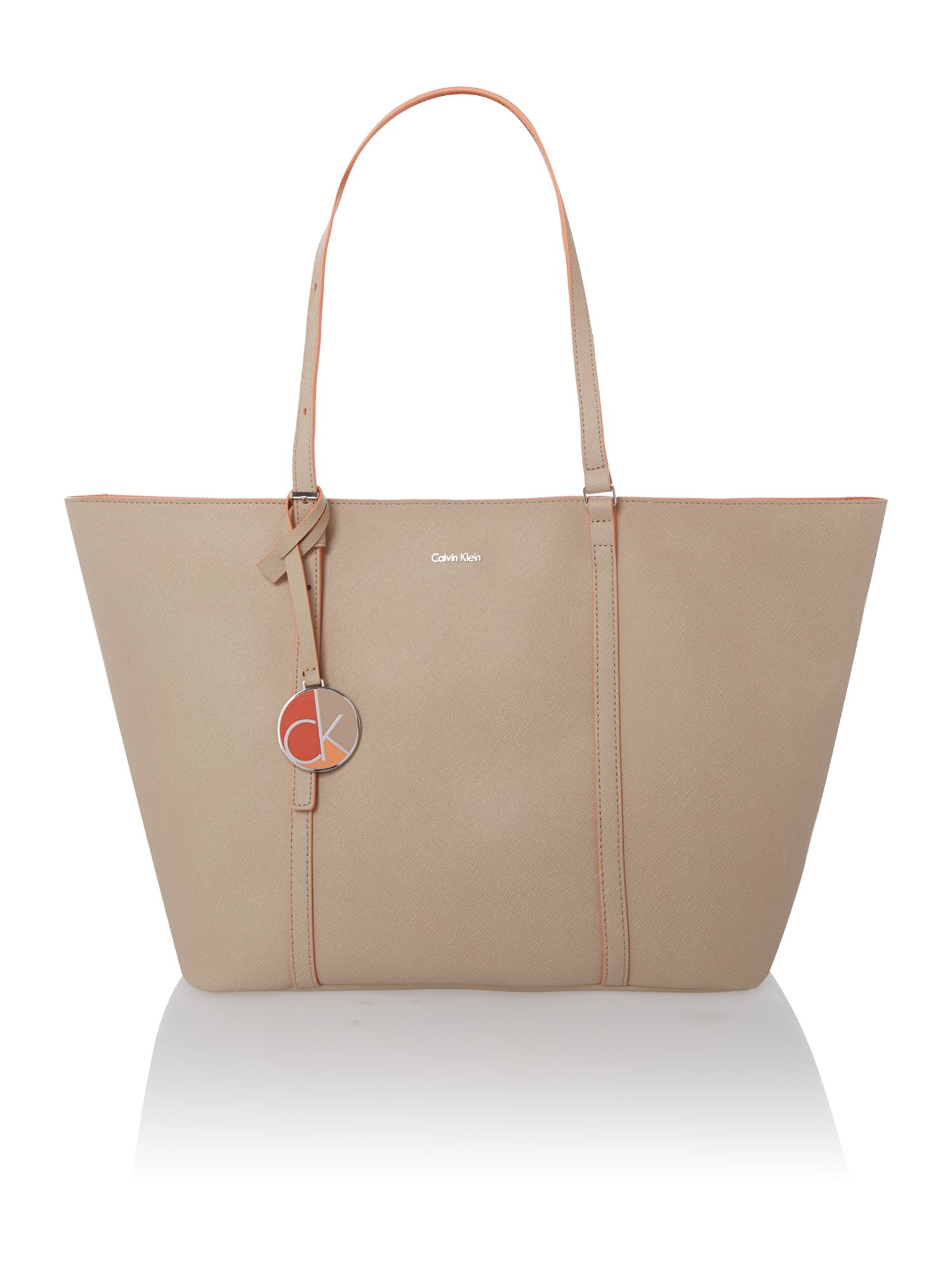 Sofie small neutral tote bag