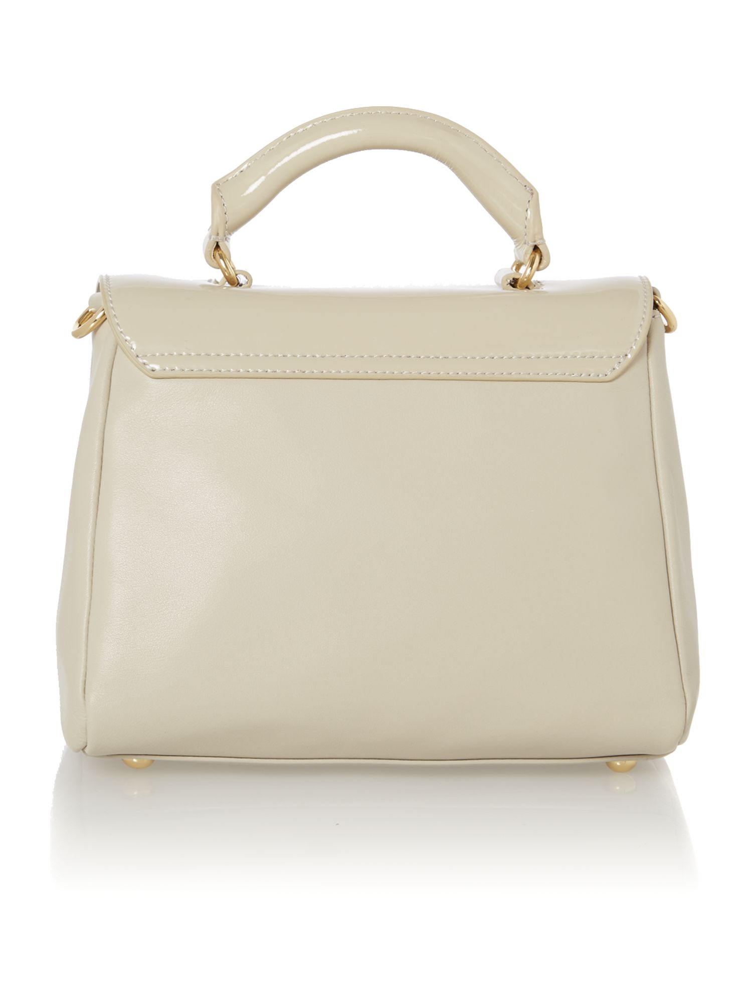 Izzy patent neutral small crossbody bag