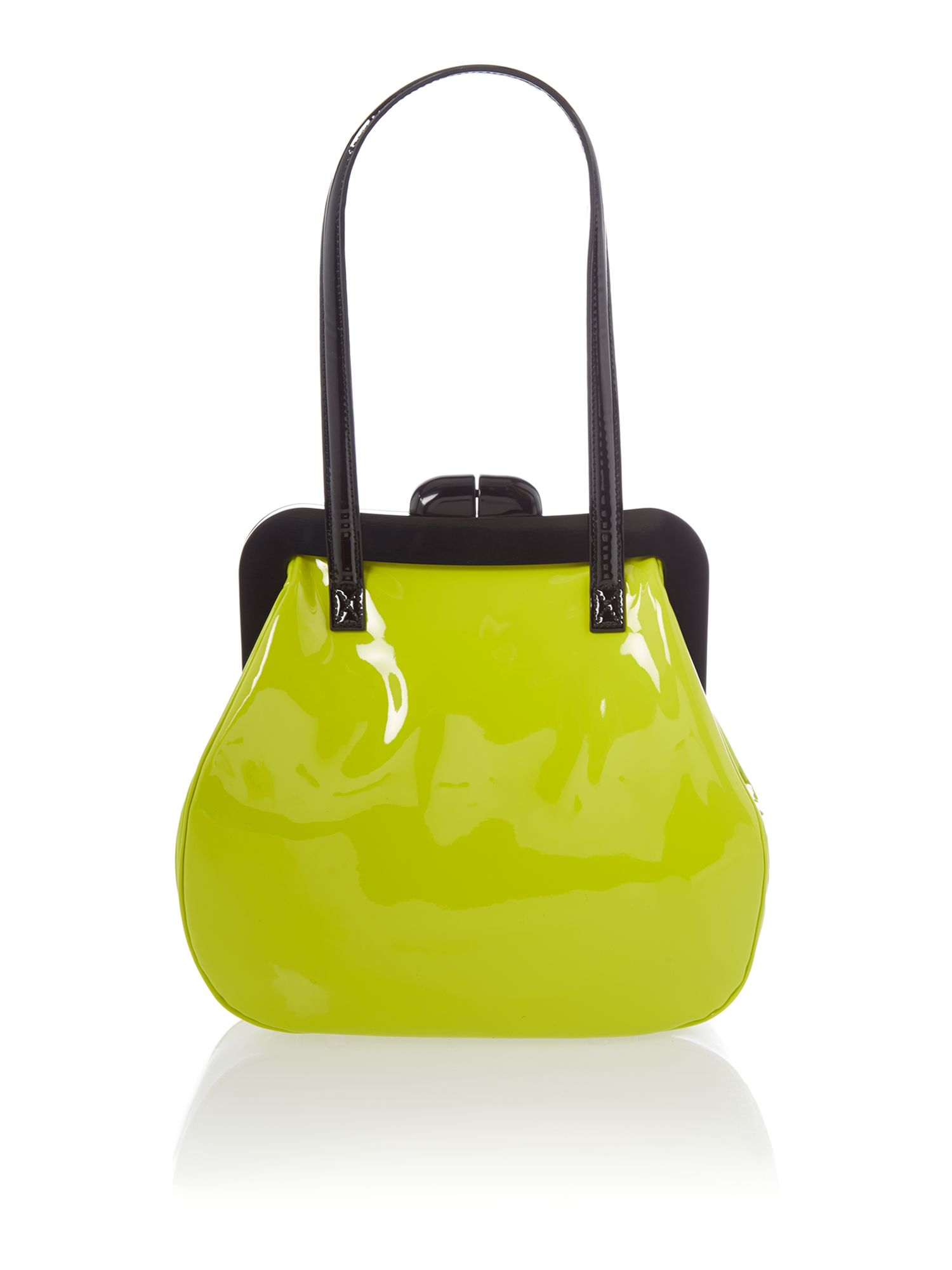 Pollyanna patent yellow shoulder bag