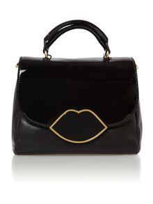 Izzy patent black small crossbody bag
