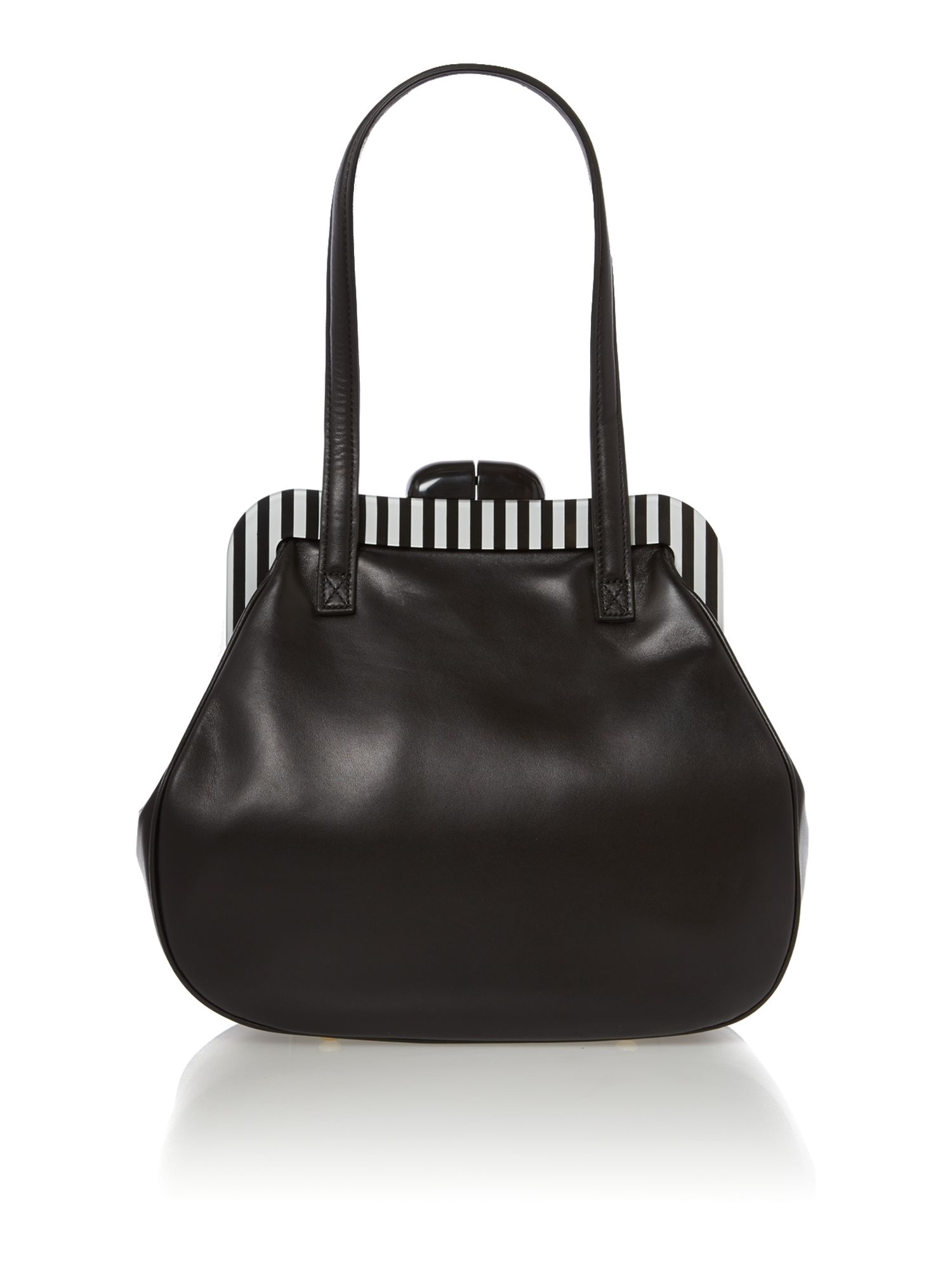 Pollyanna patent black shoulder bag
