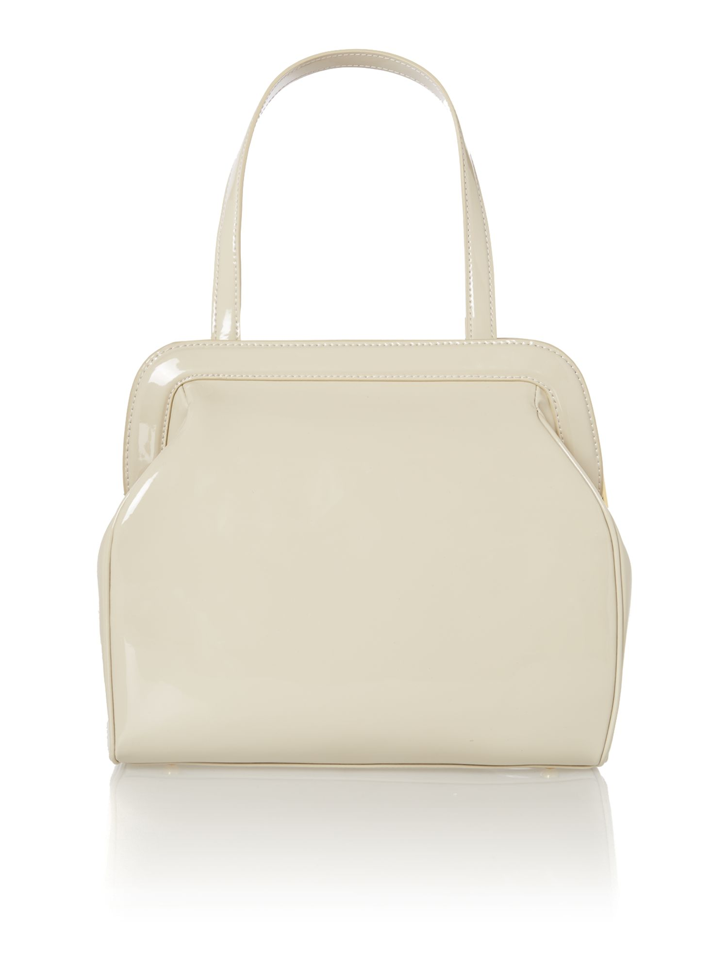 Paula patent neutral large shoulder bag