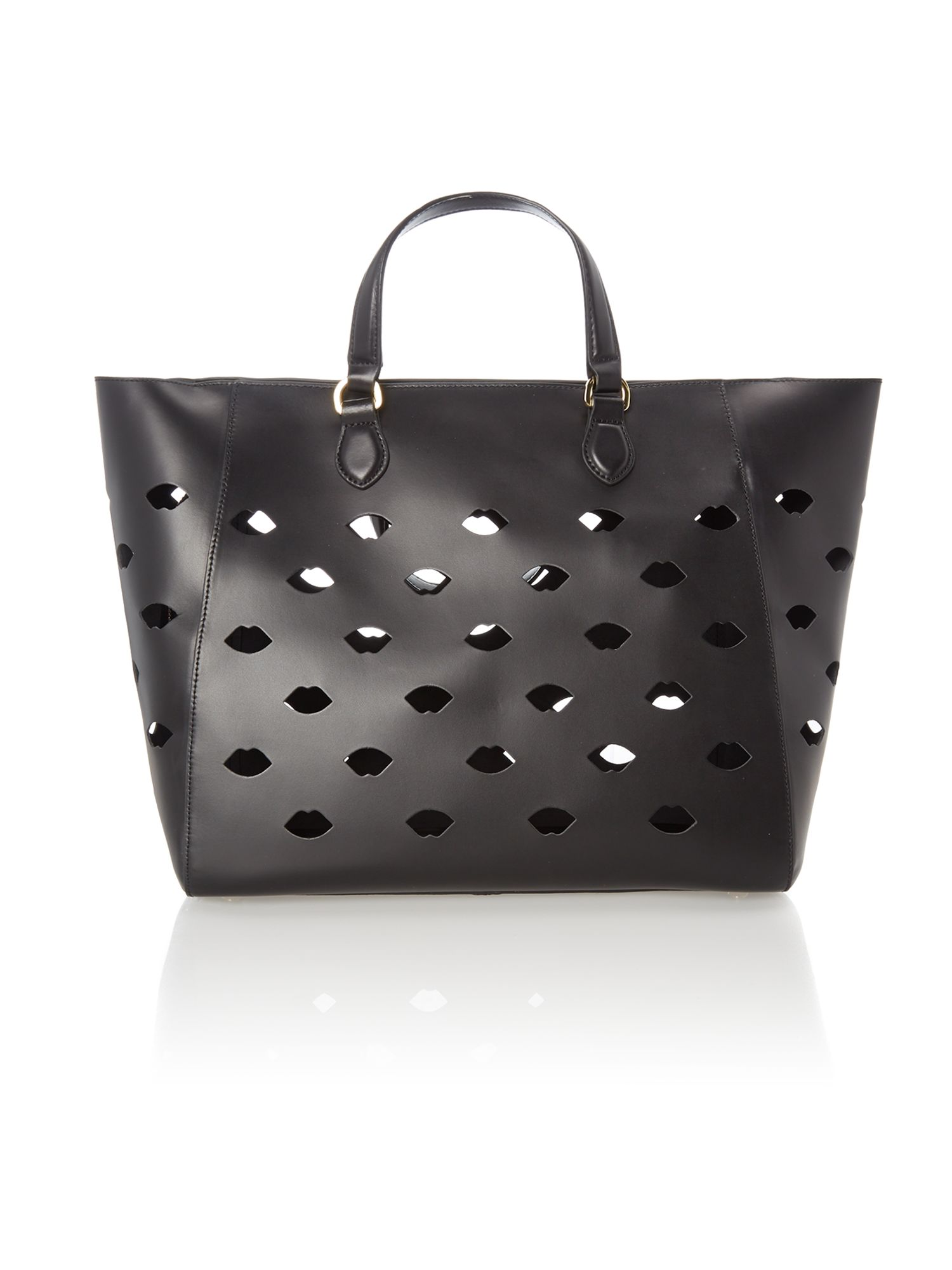 Francesca black large tote bag