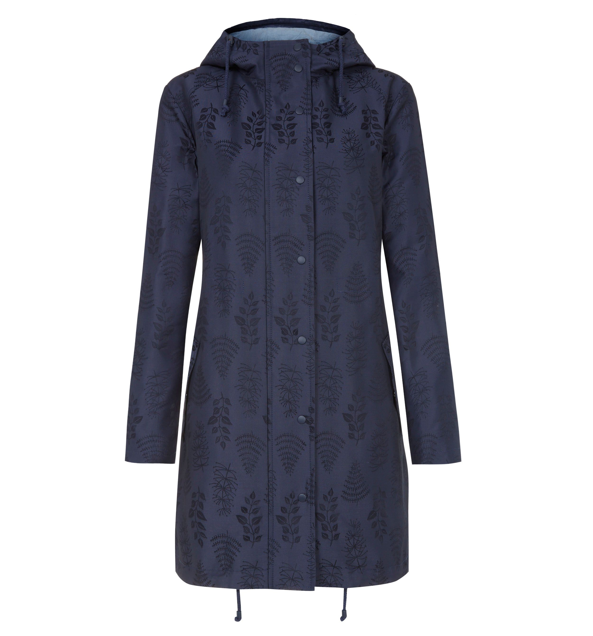 Leaf parka with an attractive print