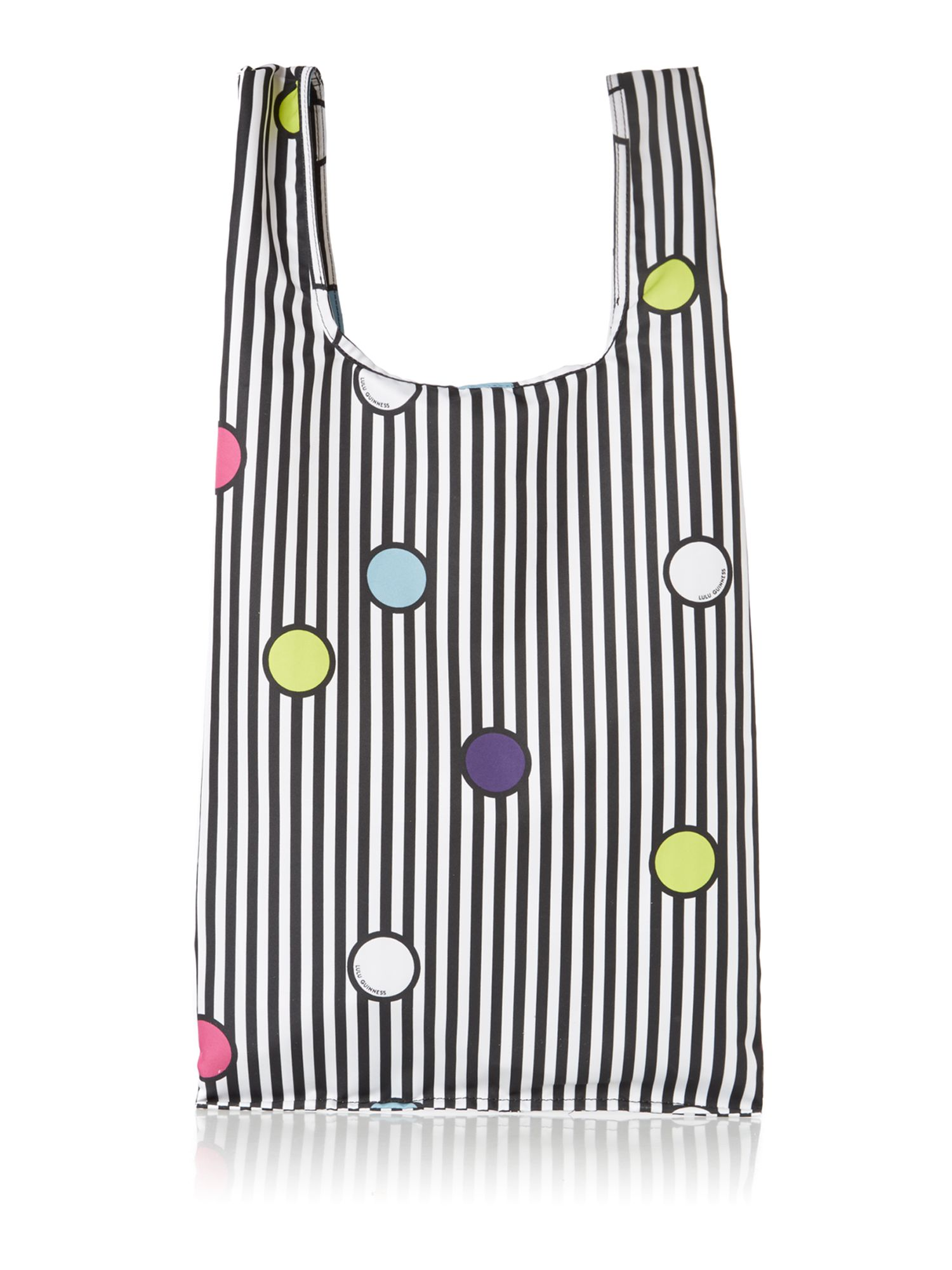 Multi-coloured spot tote bag