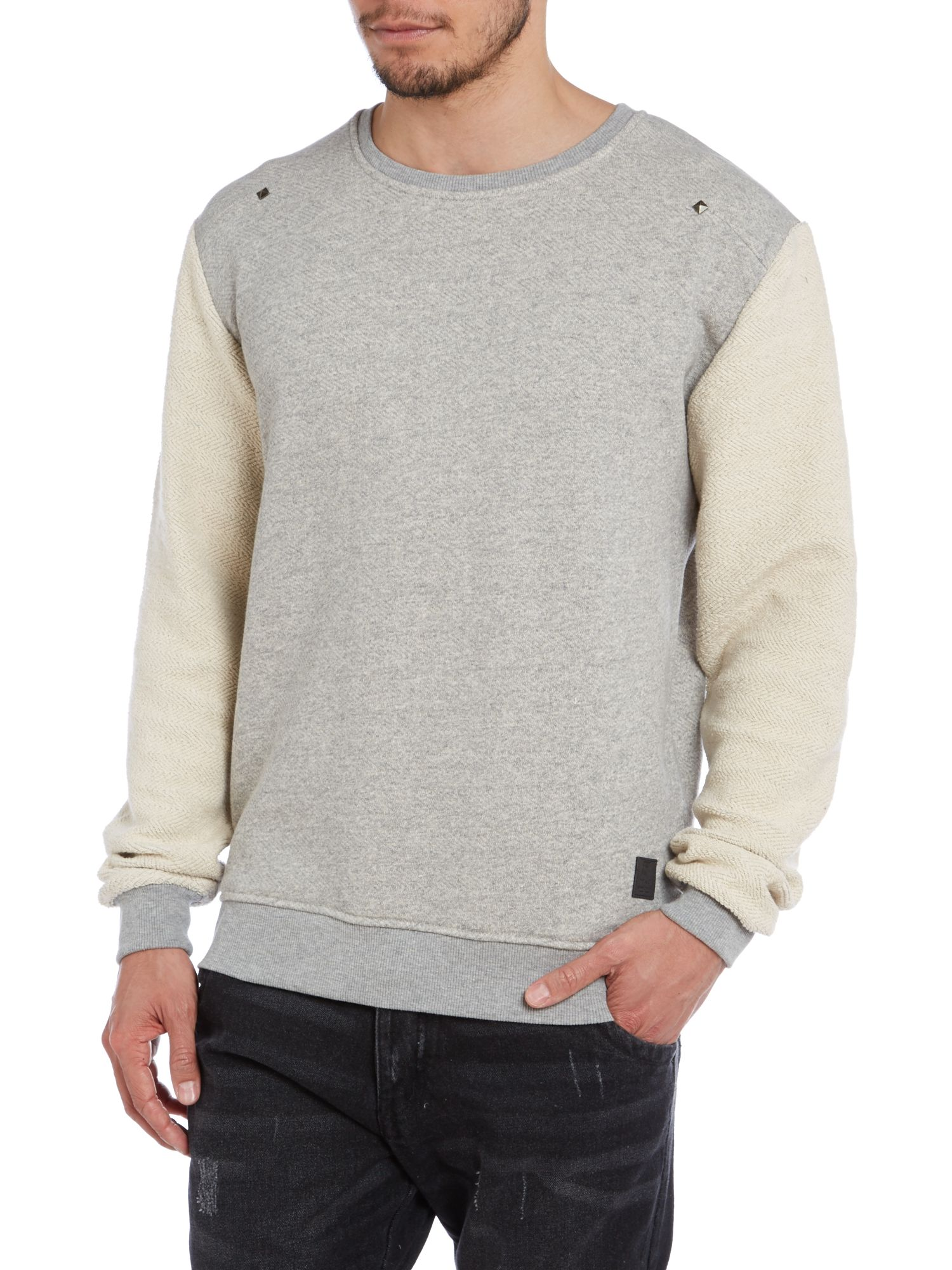 Fleece sleeves sweatshirt