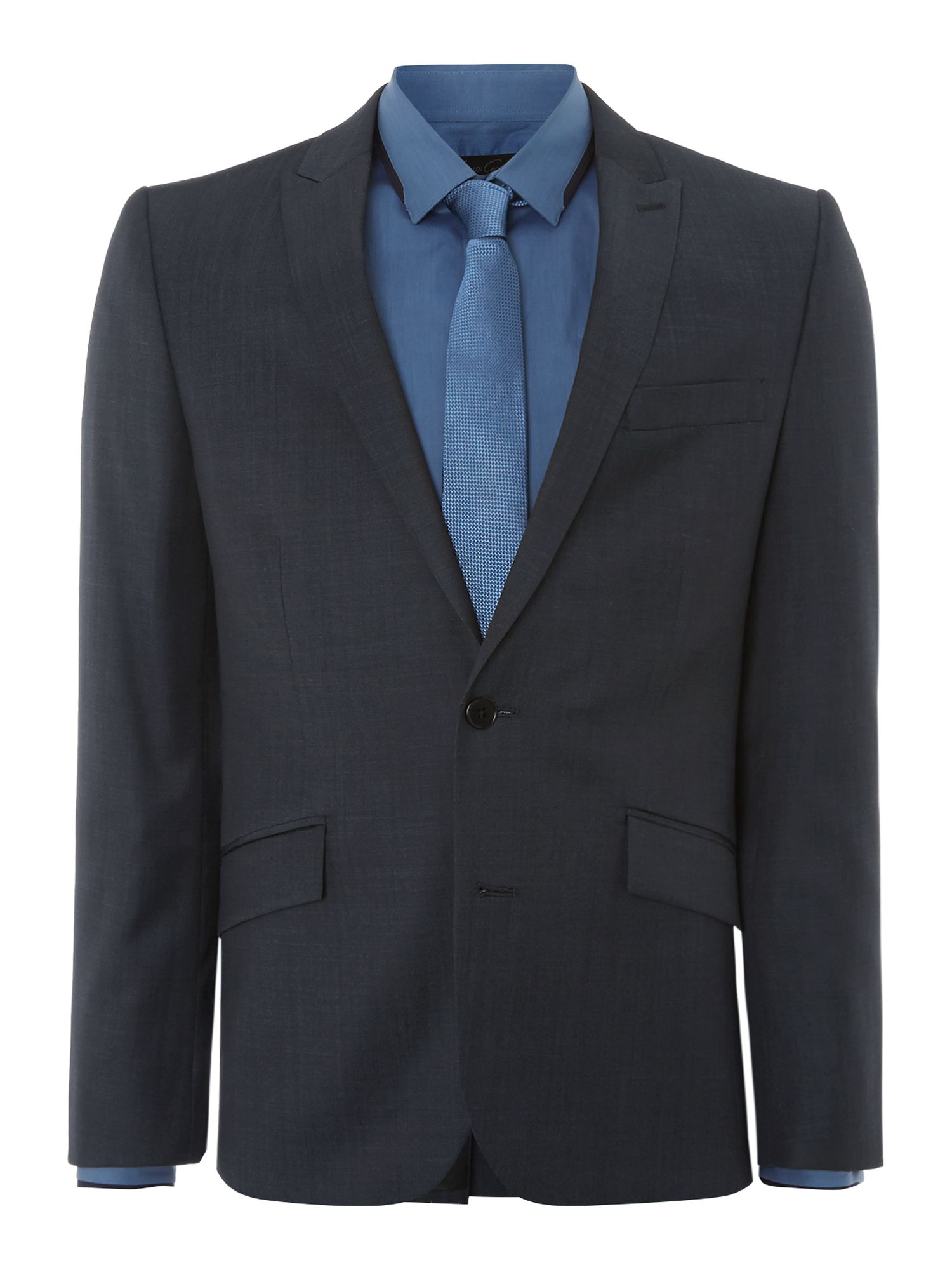 Christopher Pindot Peak Lapel Slim Suit Jacket