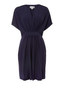 Gathered front square dress