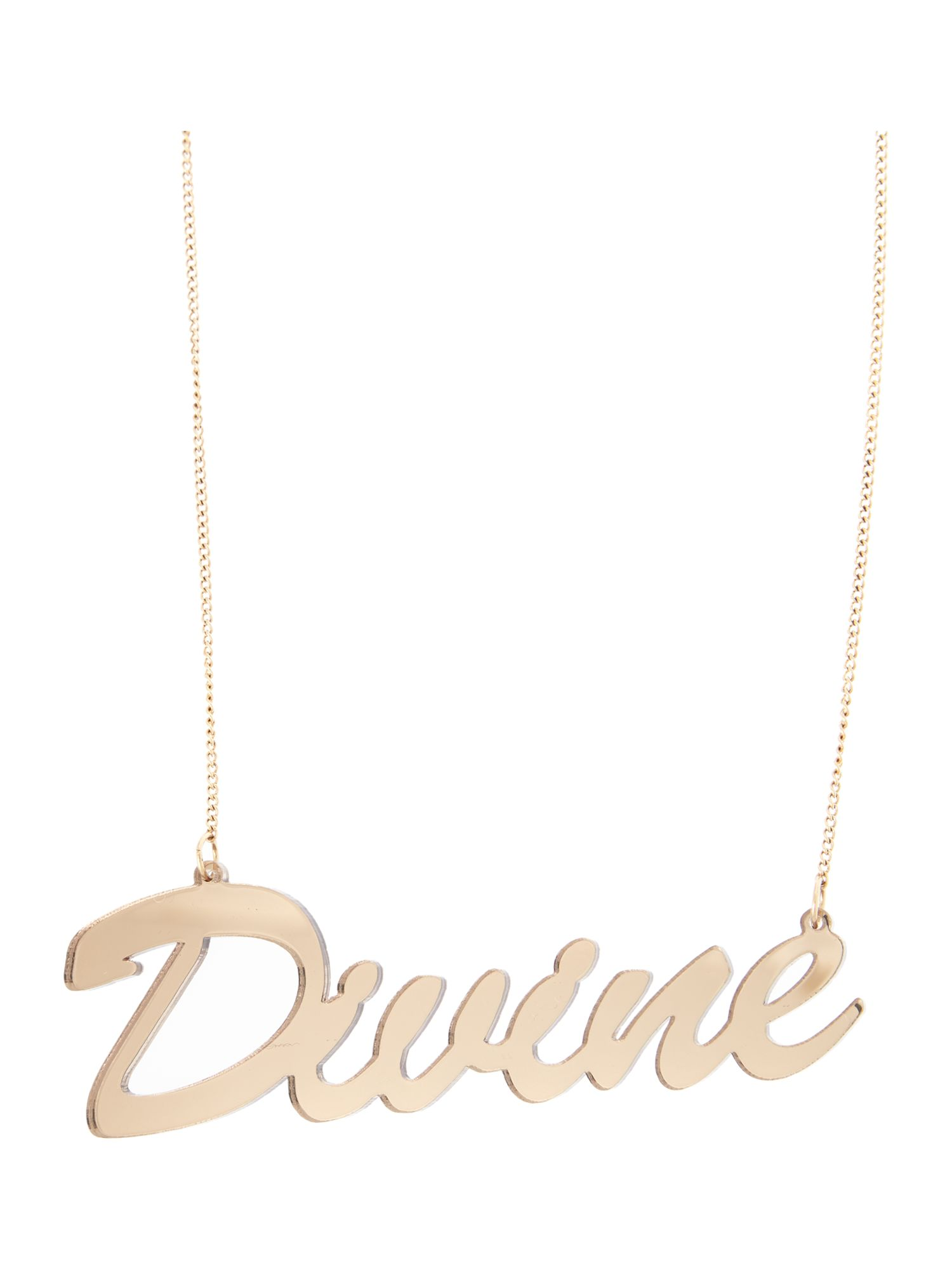 Divine necklace gunmetal