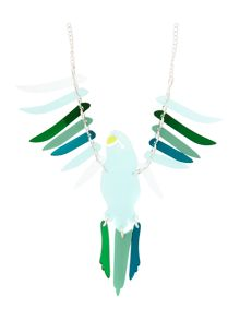 Large parakeet necklace green