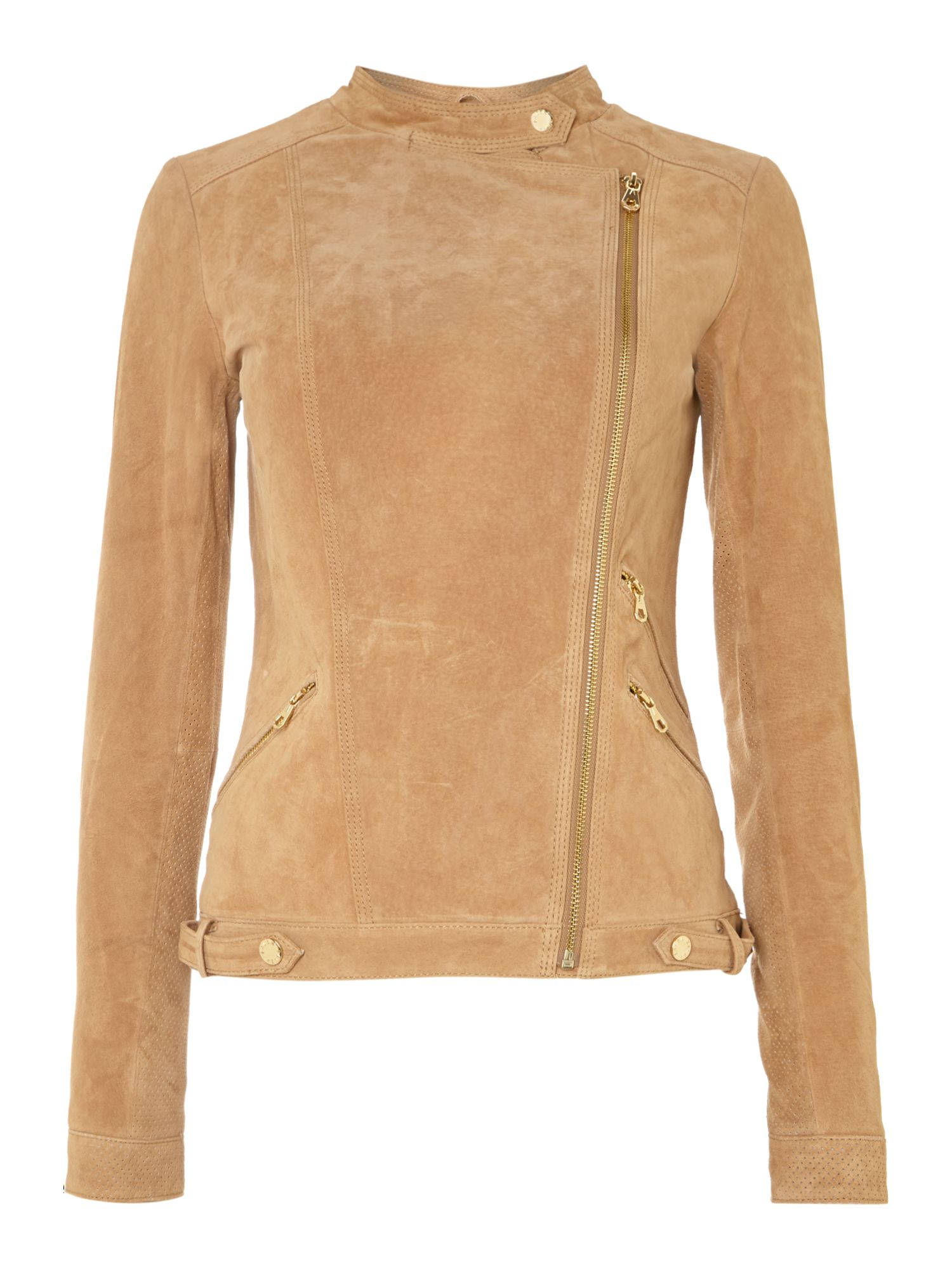 Suede long sleeve jacket
