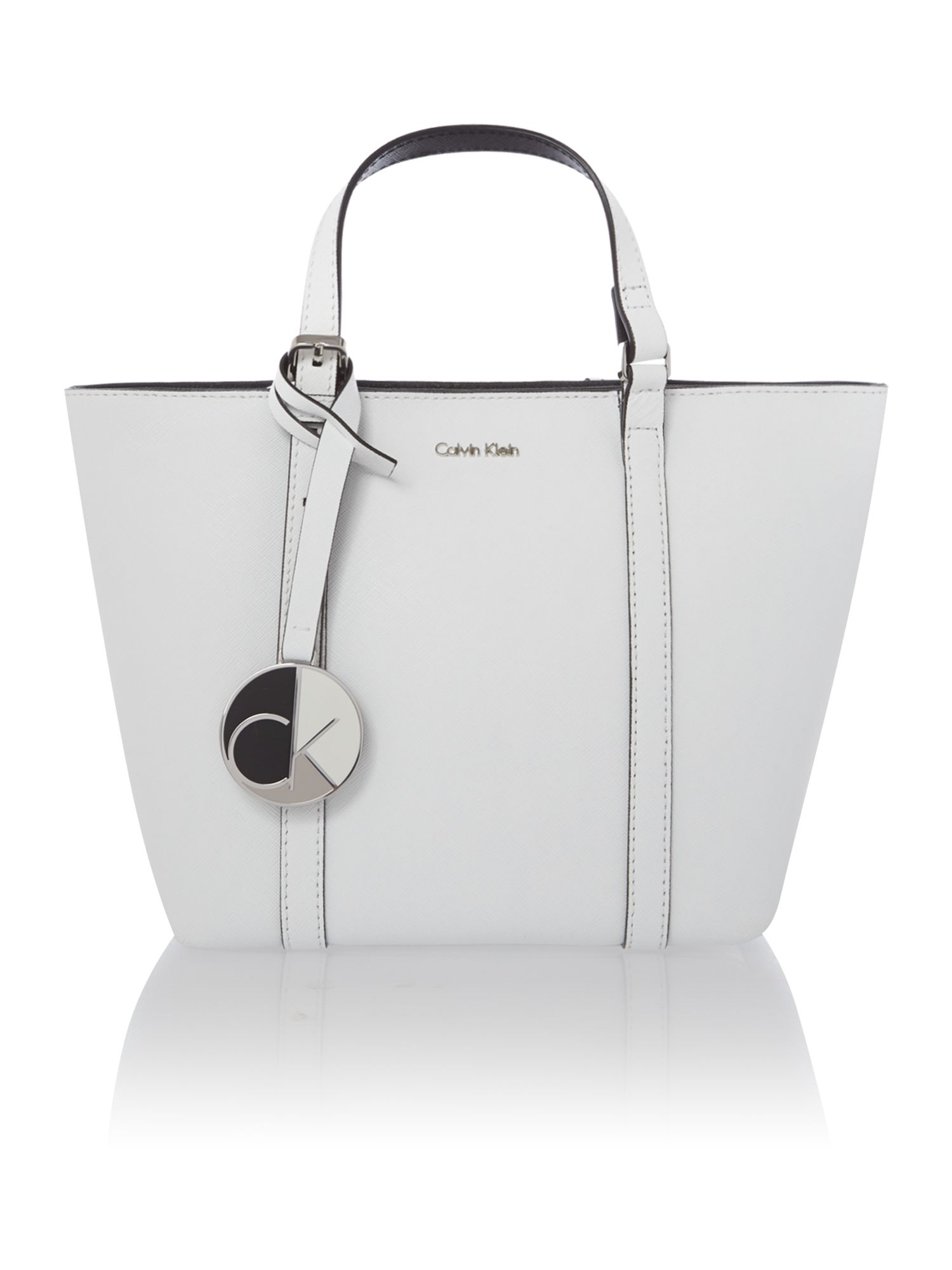 Sophie white small tote bag