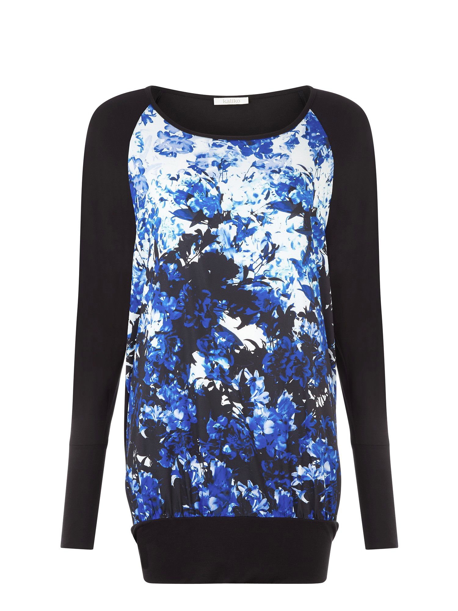 Eastern lilly print longline top