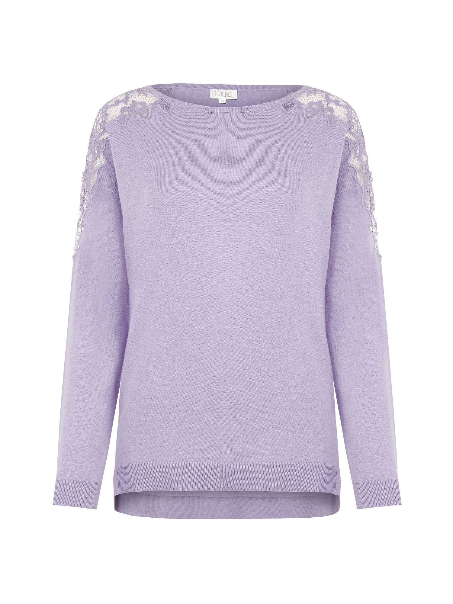 Lilac lace shoulder jumper