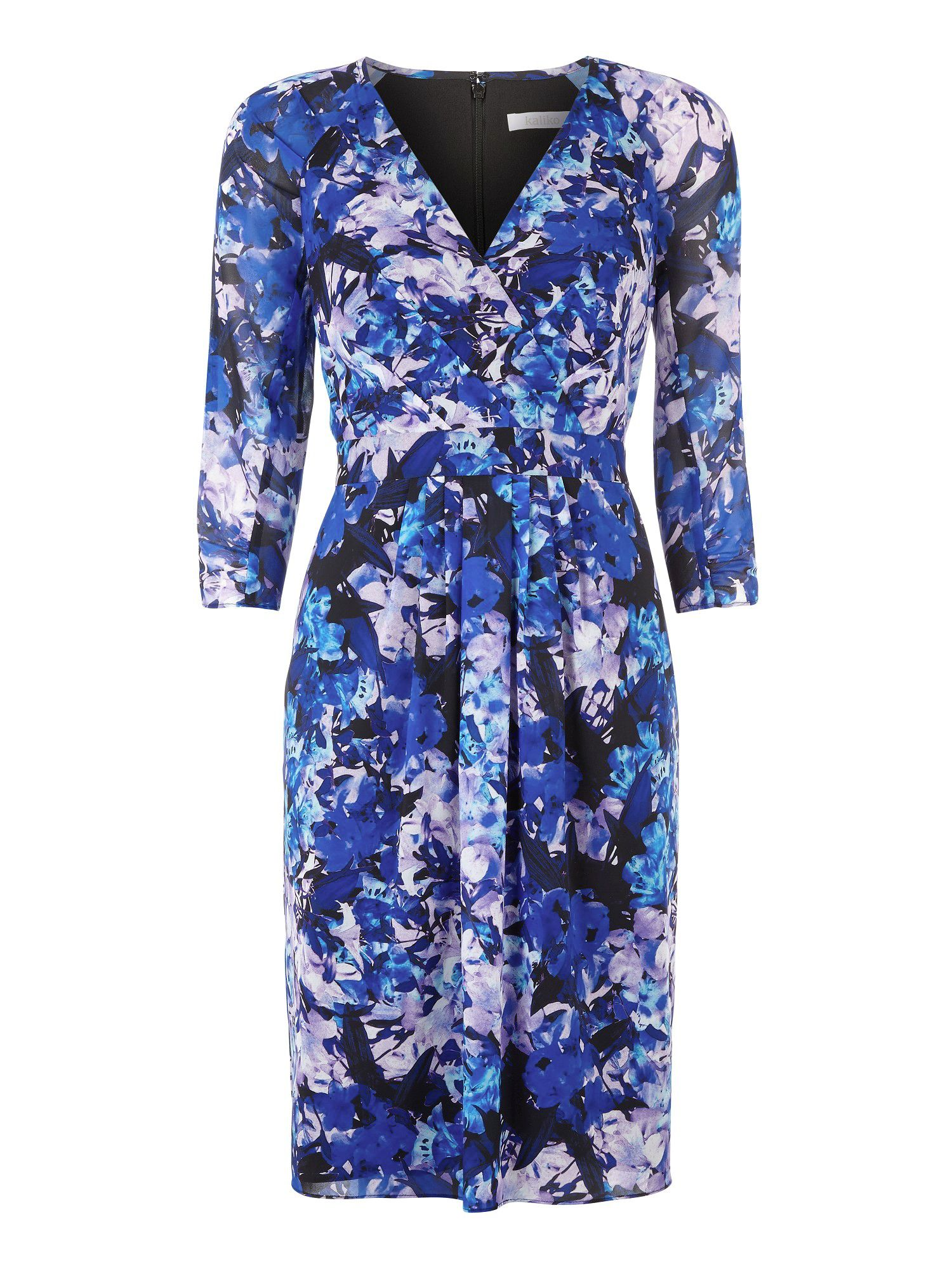 Honour print wrap dress