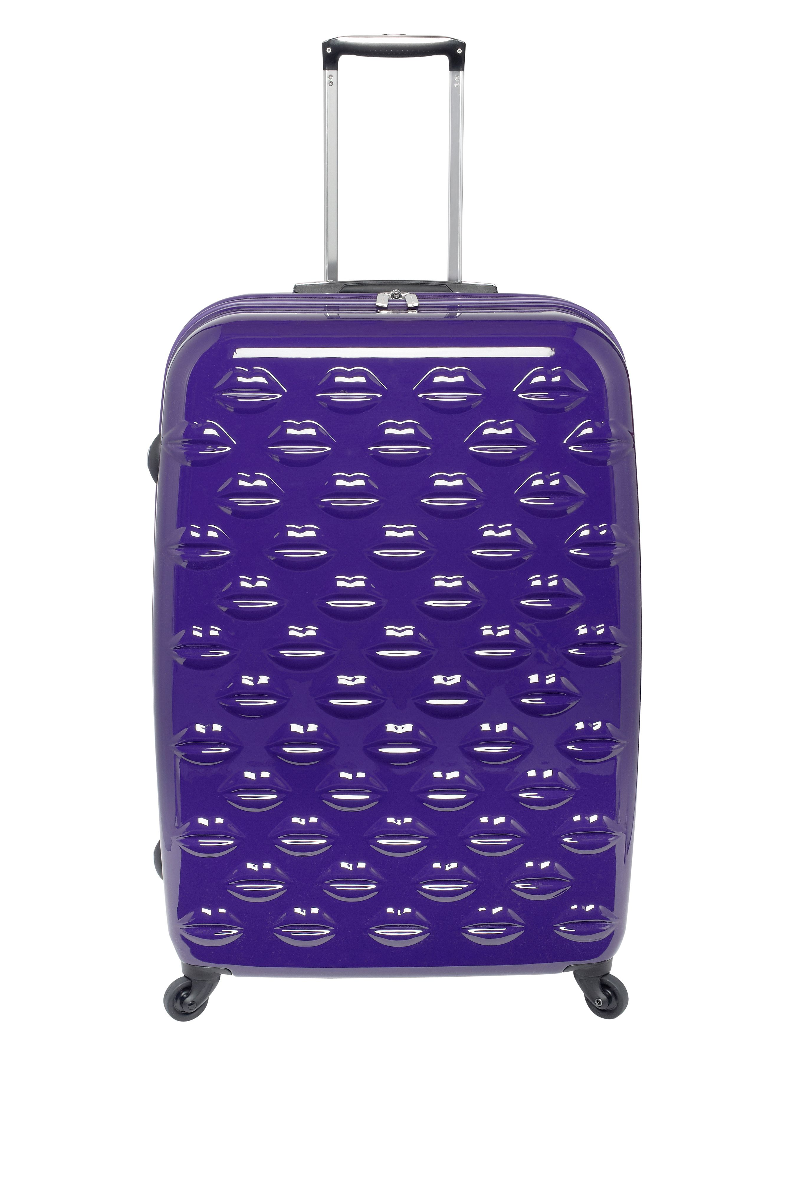 Lulu lips indigo 4 wheel hard large case