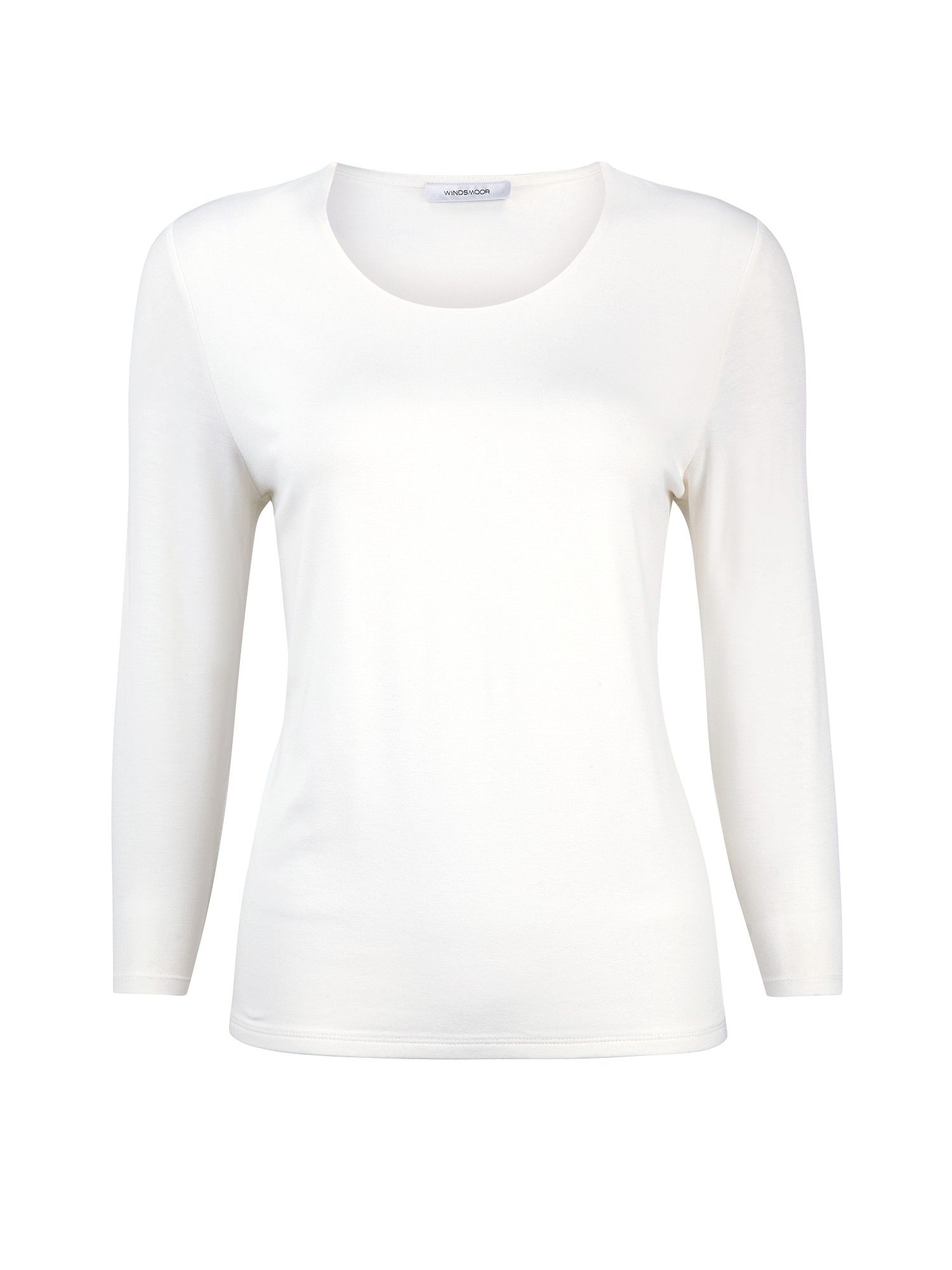 Ivory scoop neck top