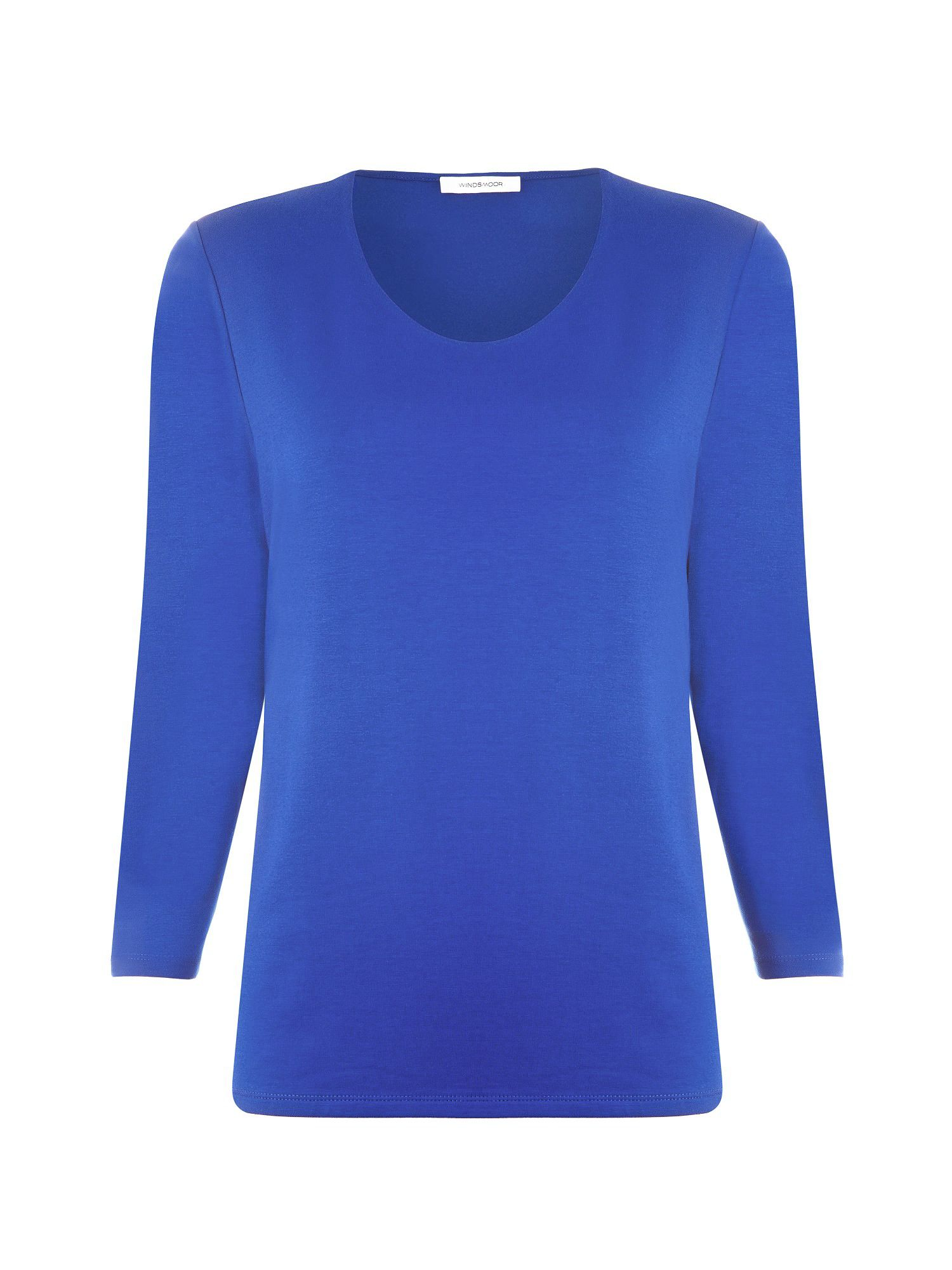 Cobalt scoop neck top
