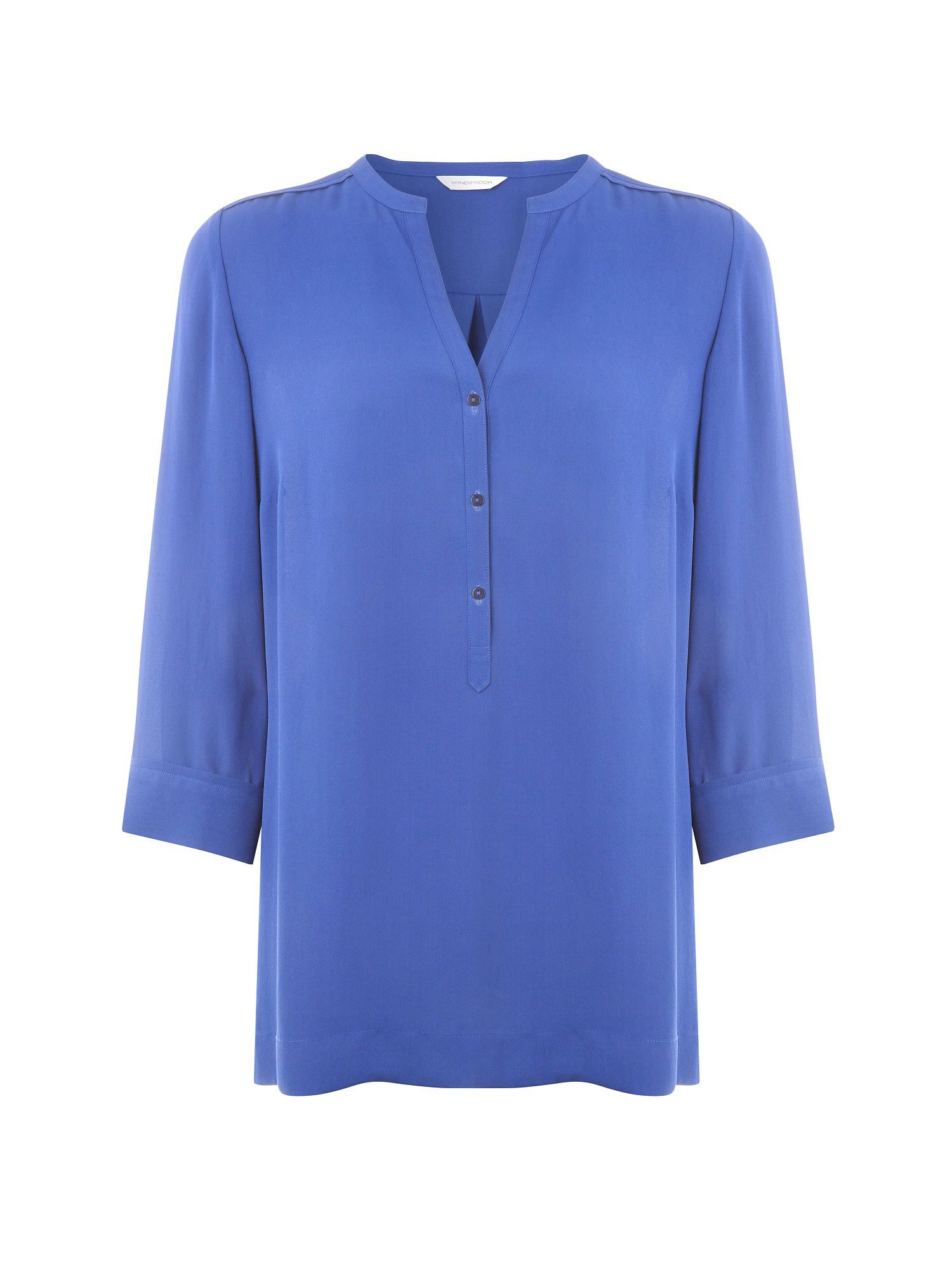 Cobalt long line blouse
