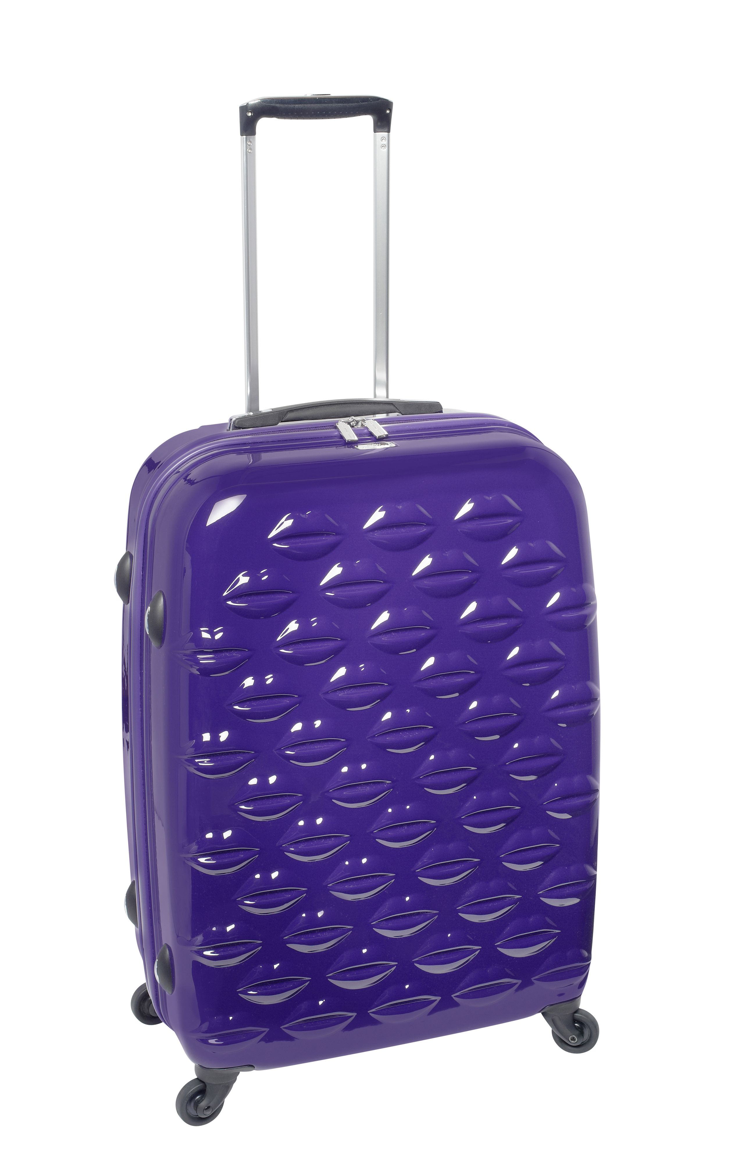 Lulu lips indigo 4 wheel hard medium case