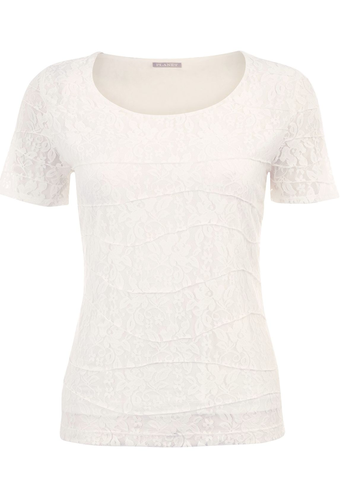 Warm ivory textured short sleeve top