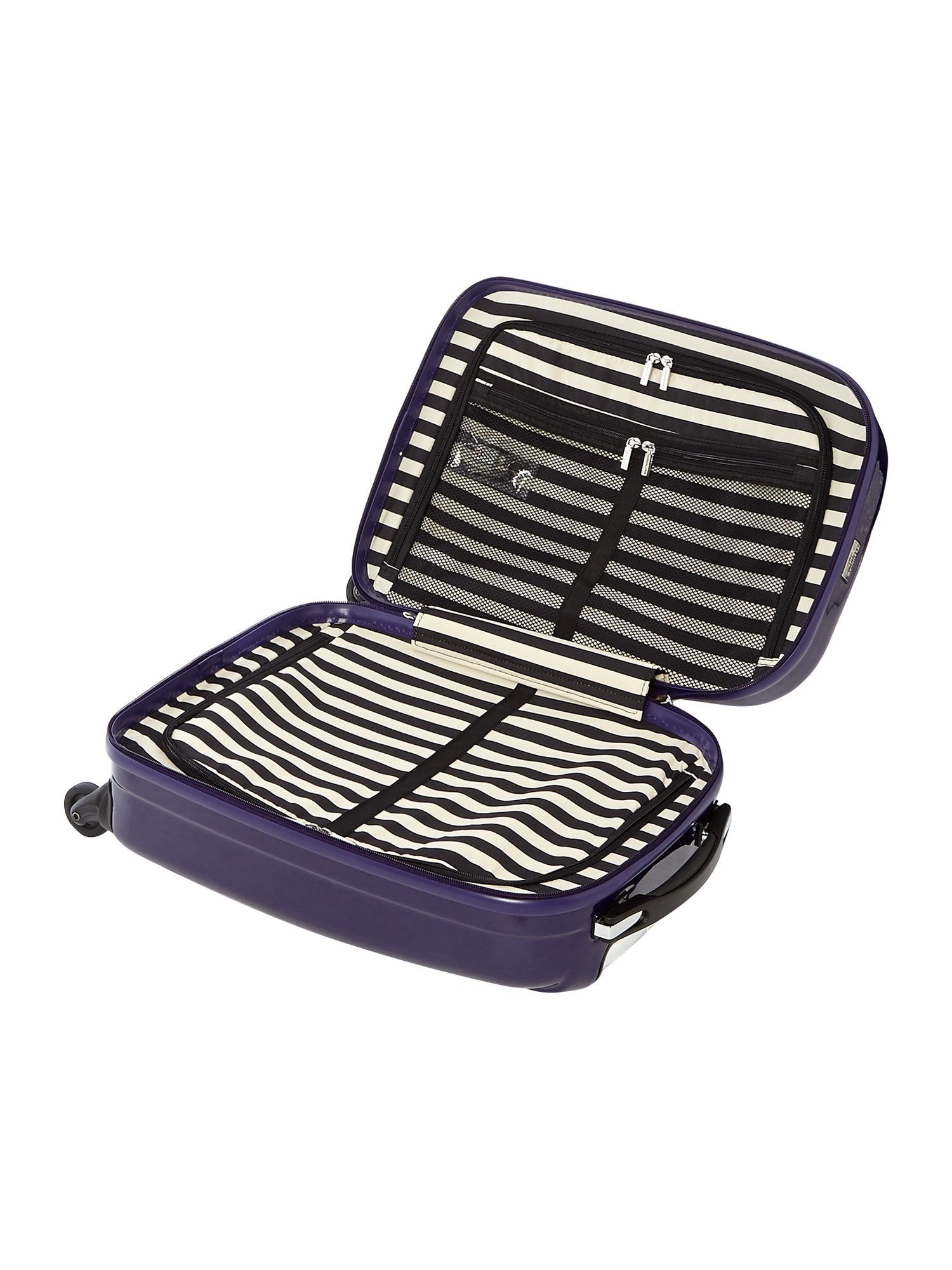 Lulu lips indigo 4 wheel hard cabin case