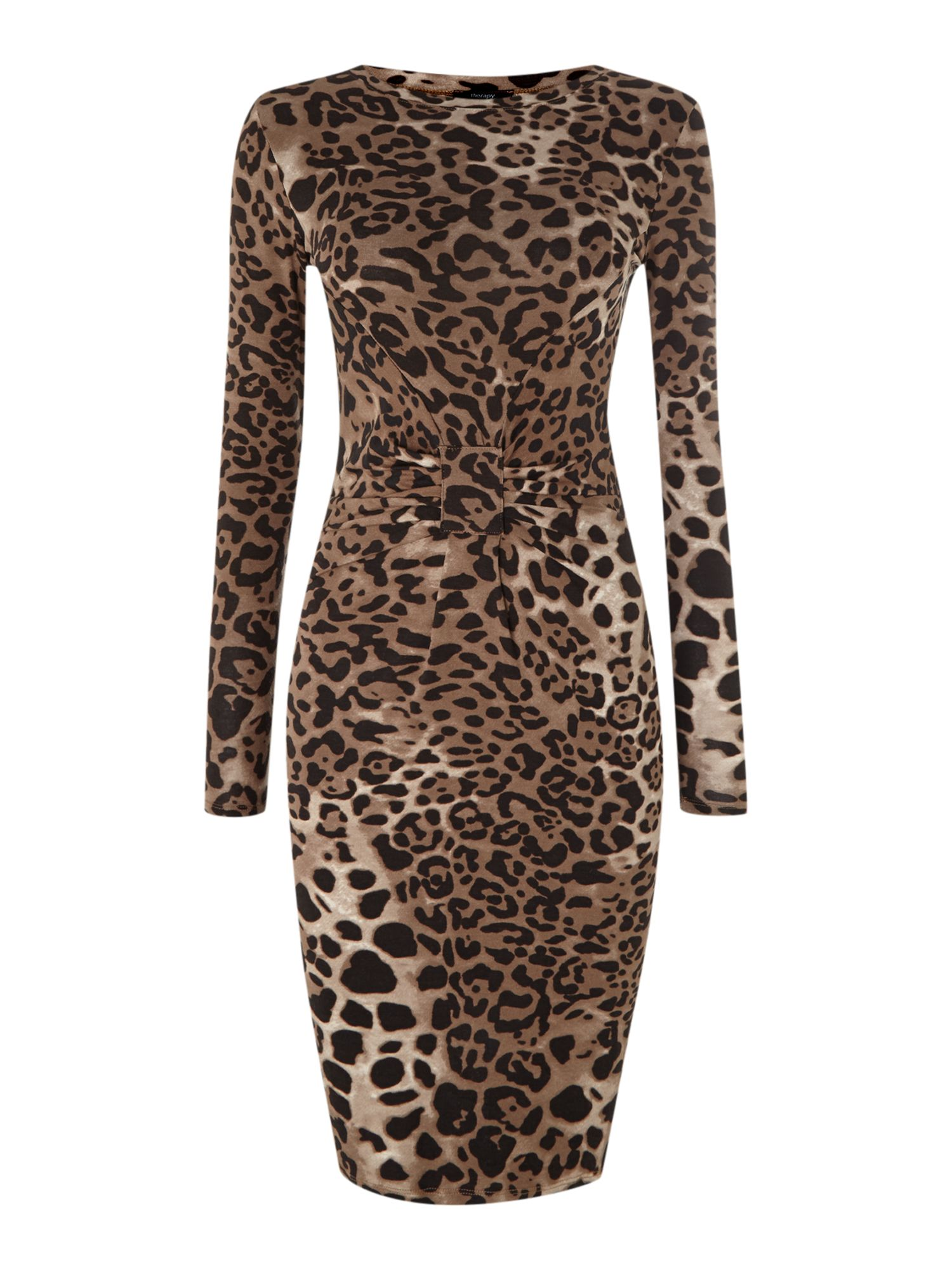 All over leopard print tube dress