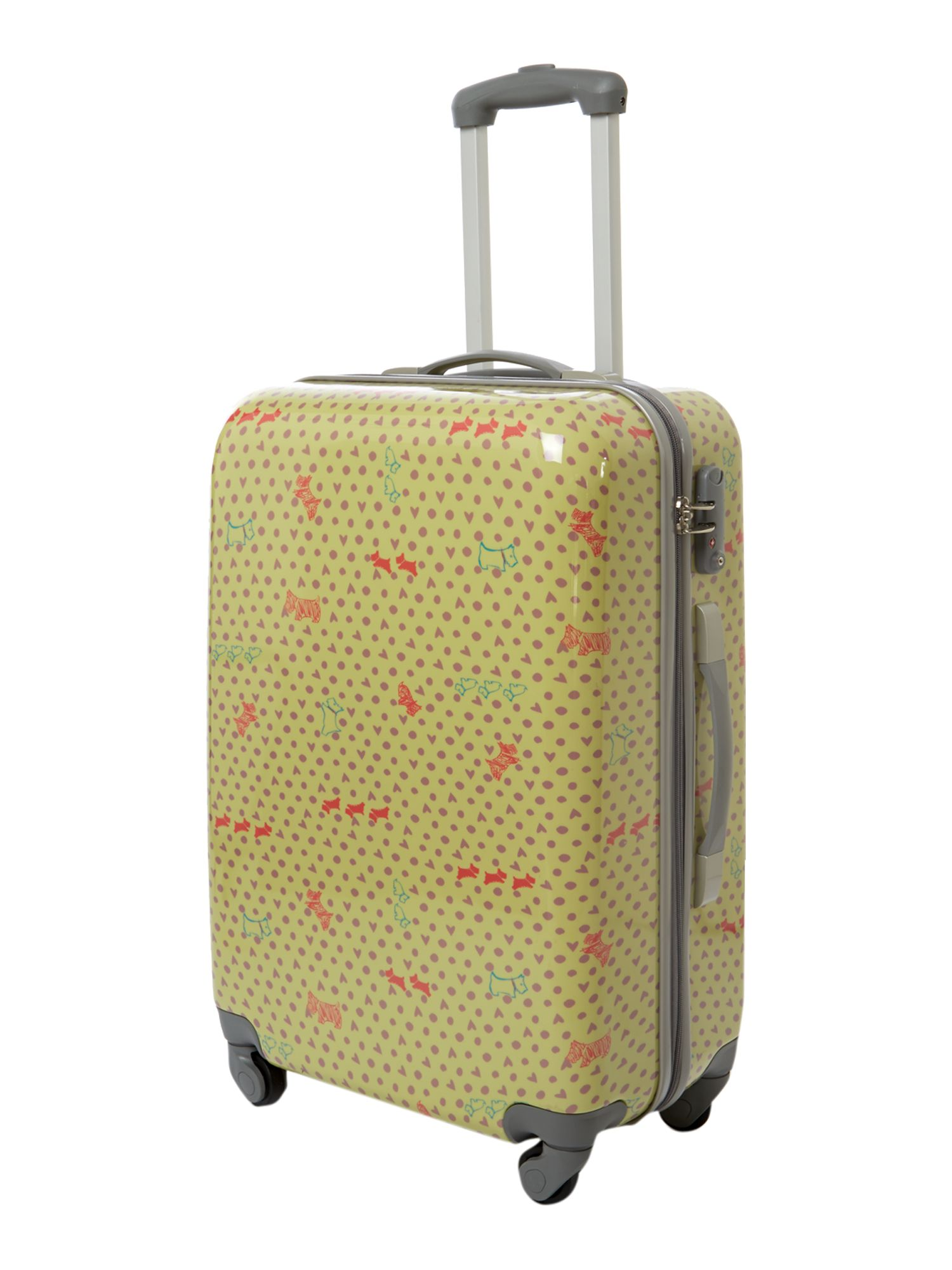 Hibbert pistachio 4 wheel hard large trolley case