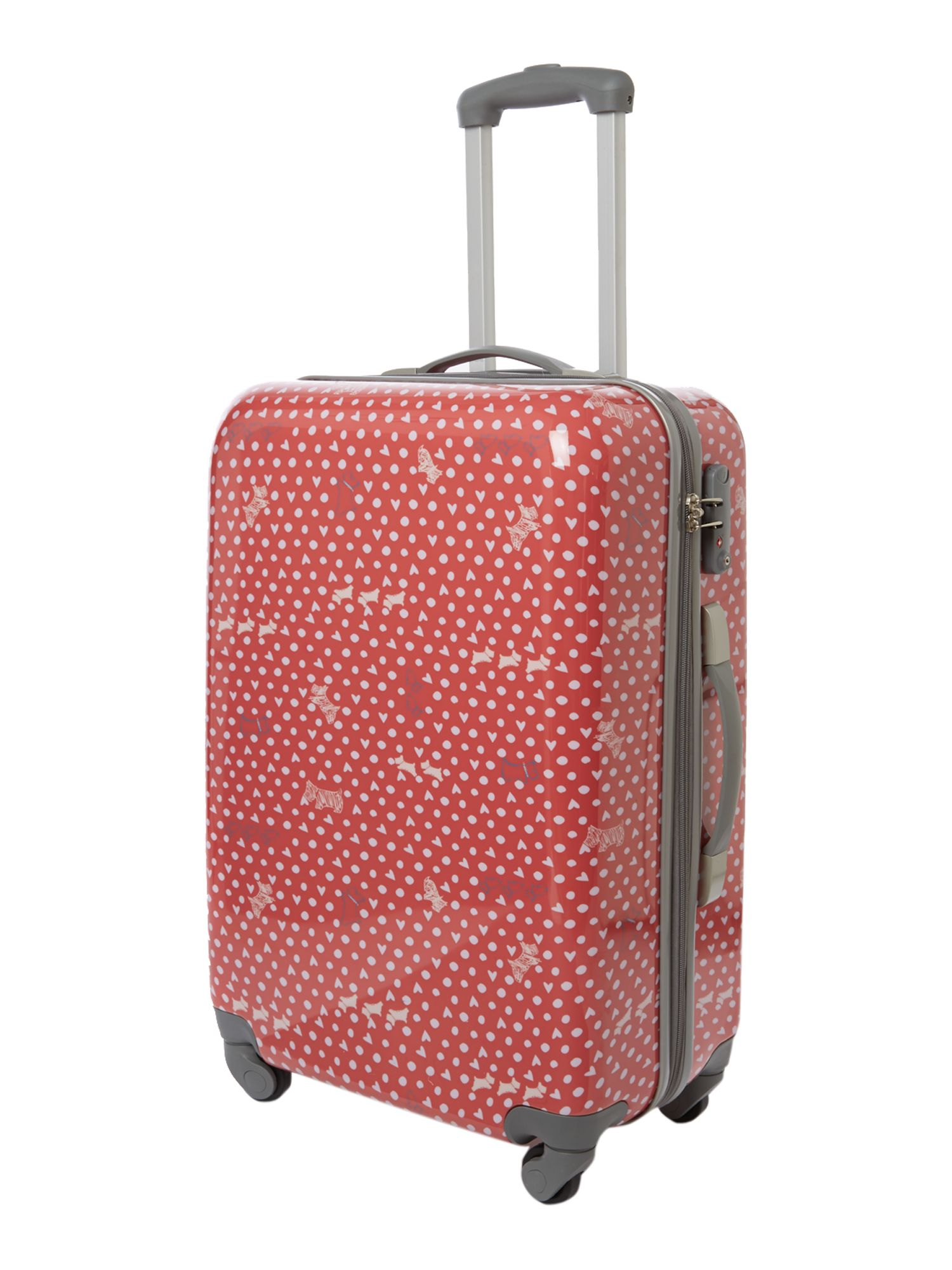 Hibbert coral 4 wheel hard medium trolley case