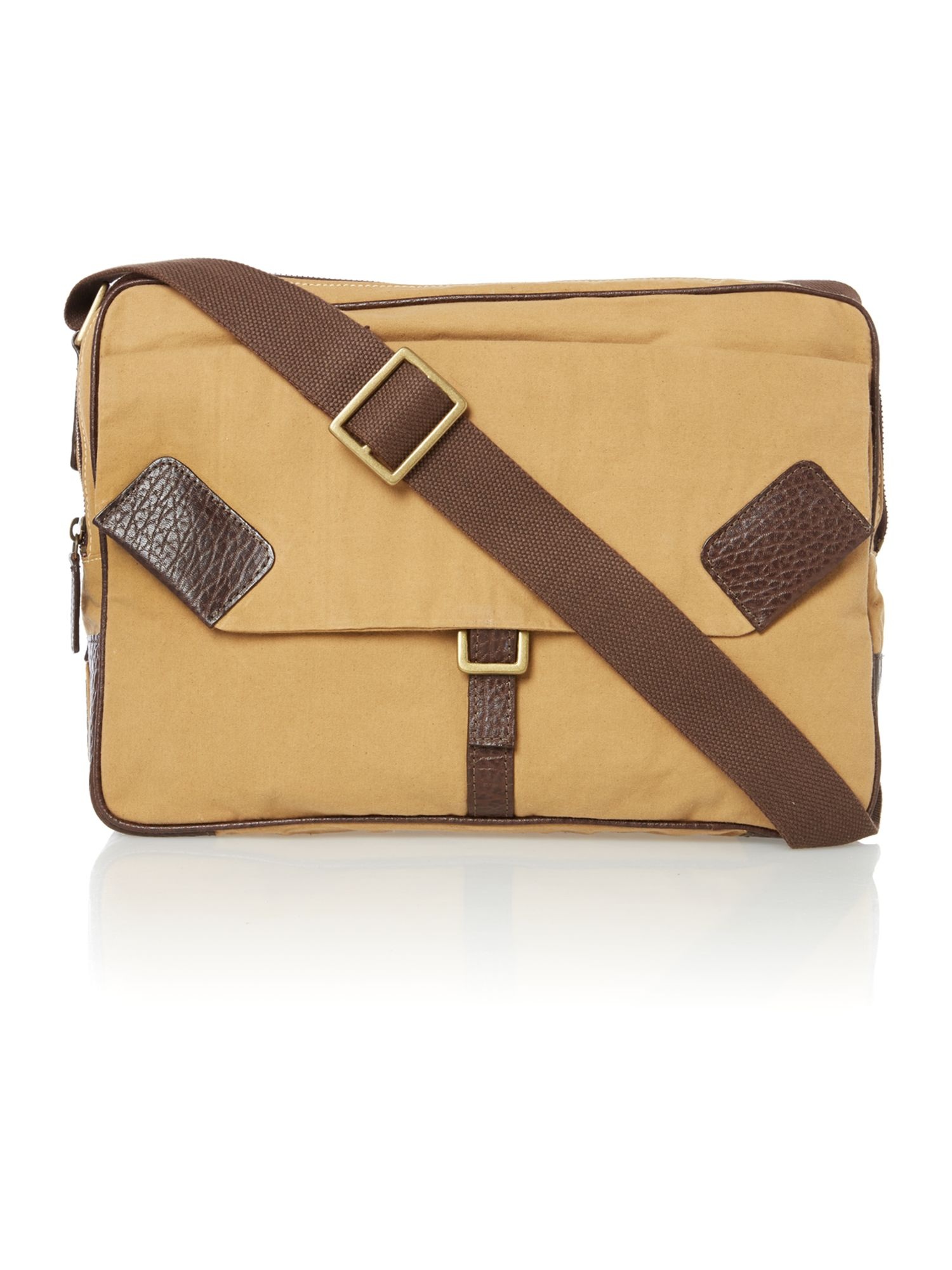 Drake beige canvas courier bag