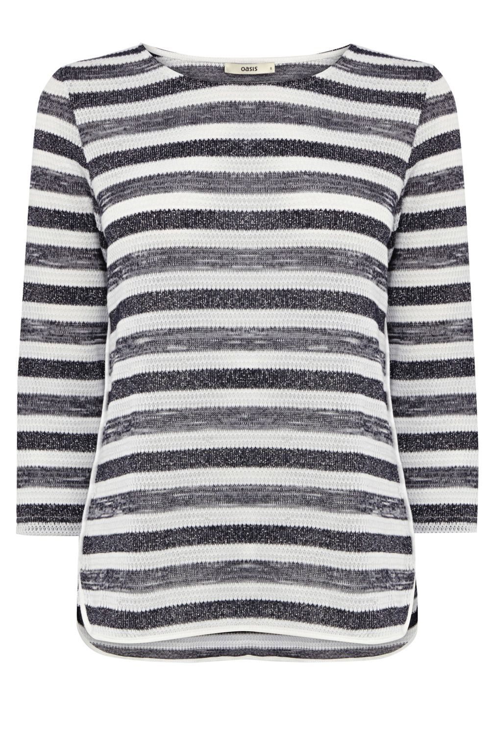 Stripe tuck sparkle top