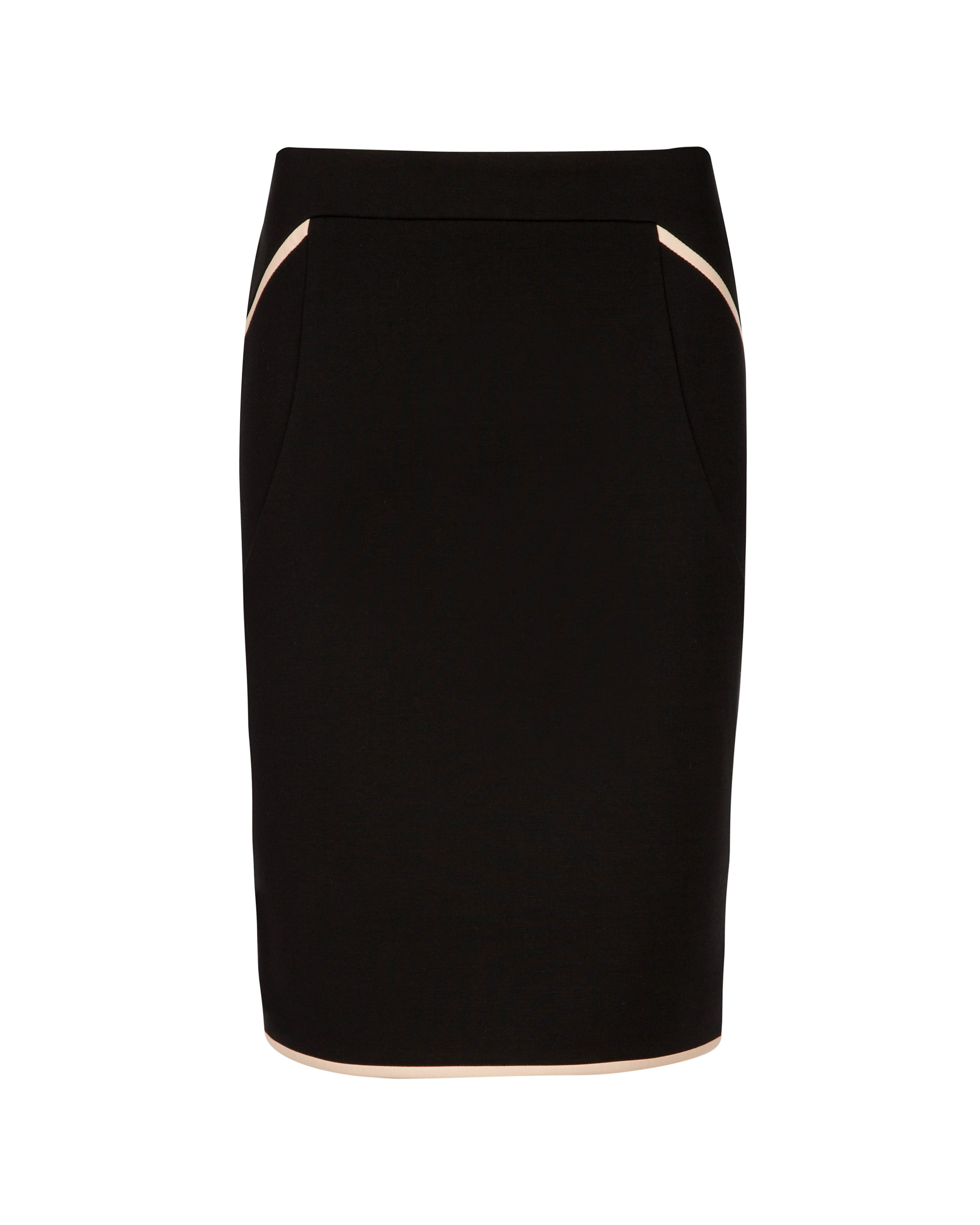 Ommbi contrast piping skirt