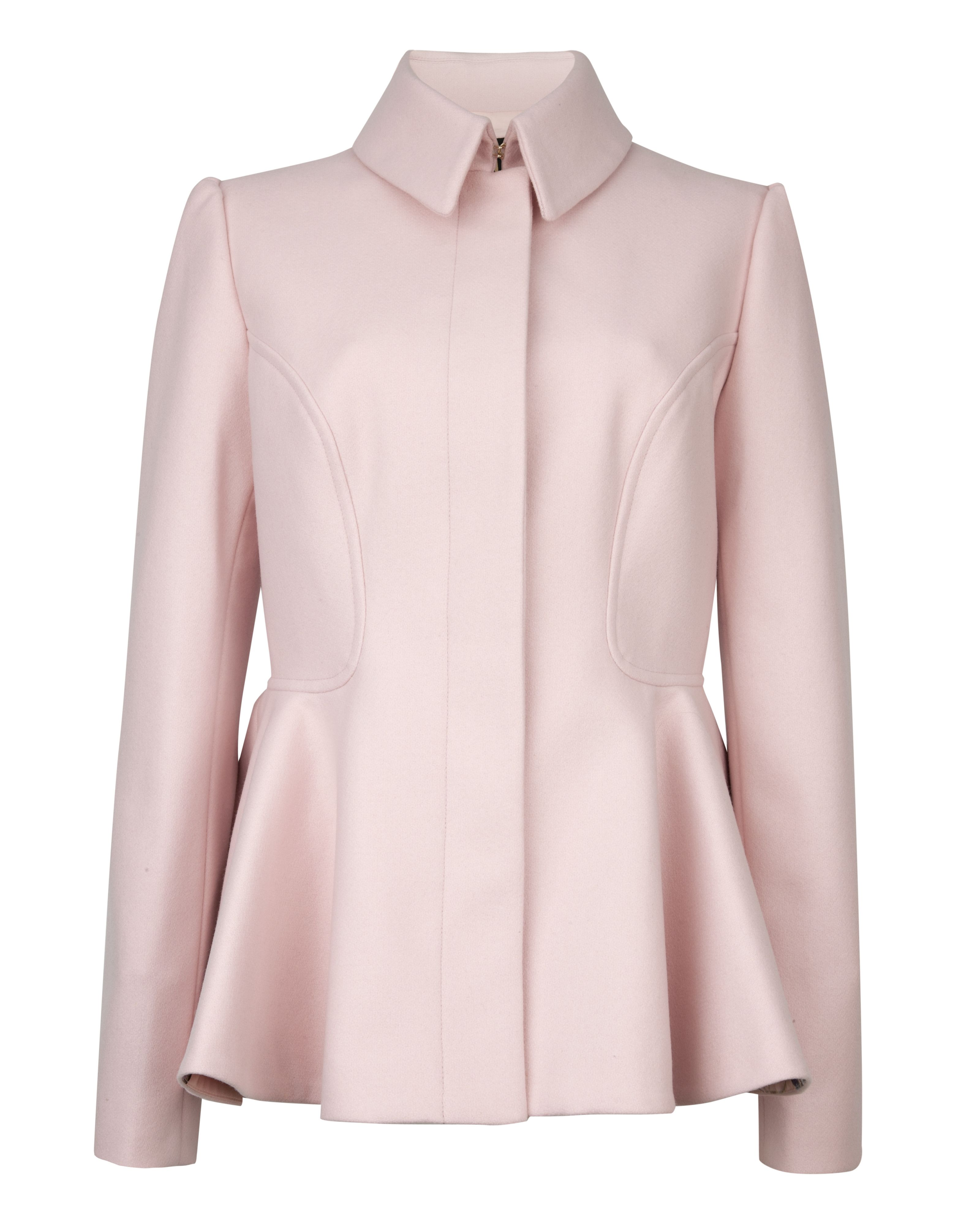 Sollel short peplum coat