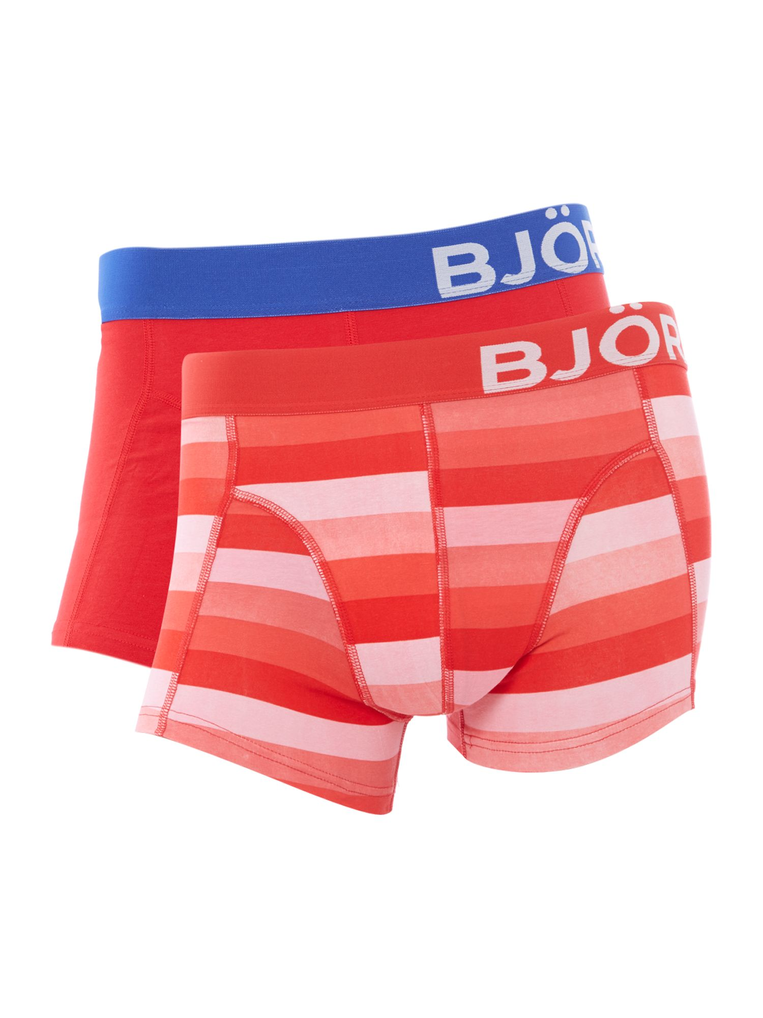 2 pack stripe and solid underwear trunk