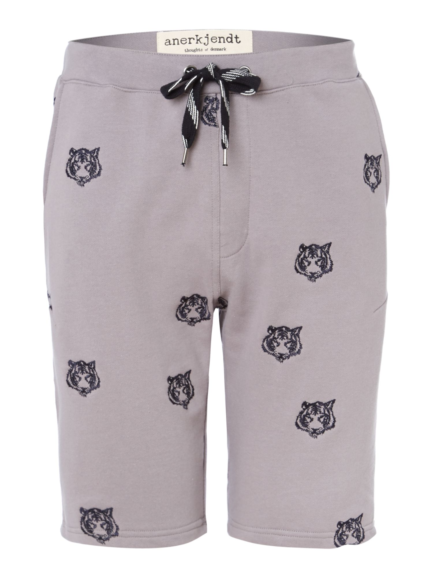 Drawstring tiger print shorts