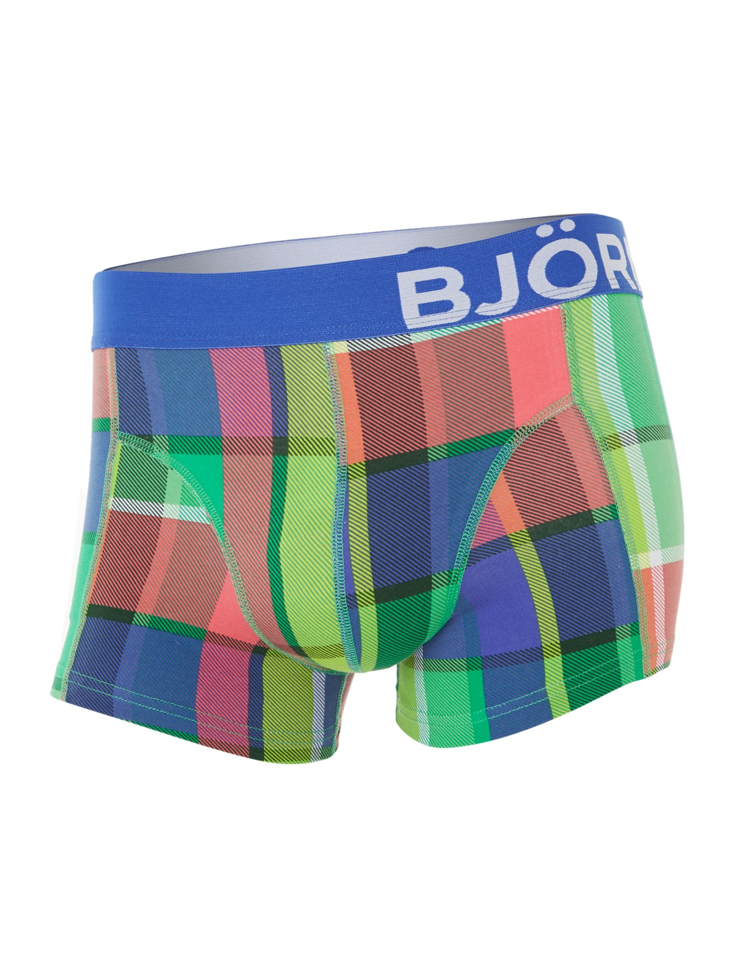 Check all over print underwear trunk