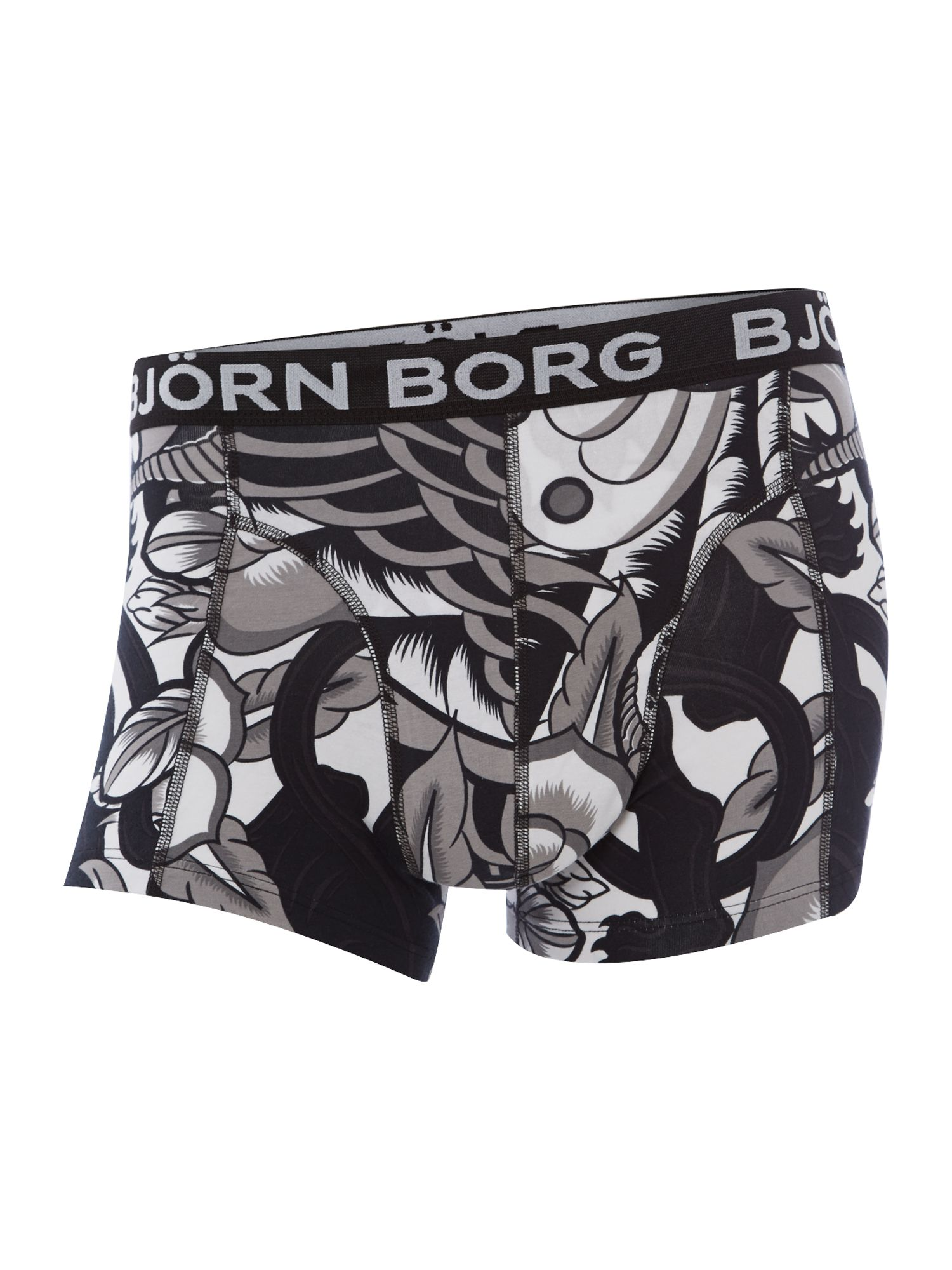 Welcome to the jungle print underwear trunk