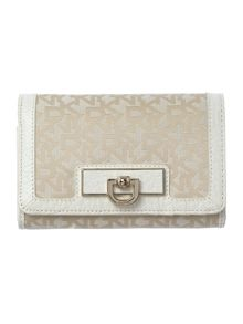 French Grain white flap over purse