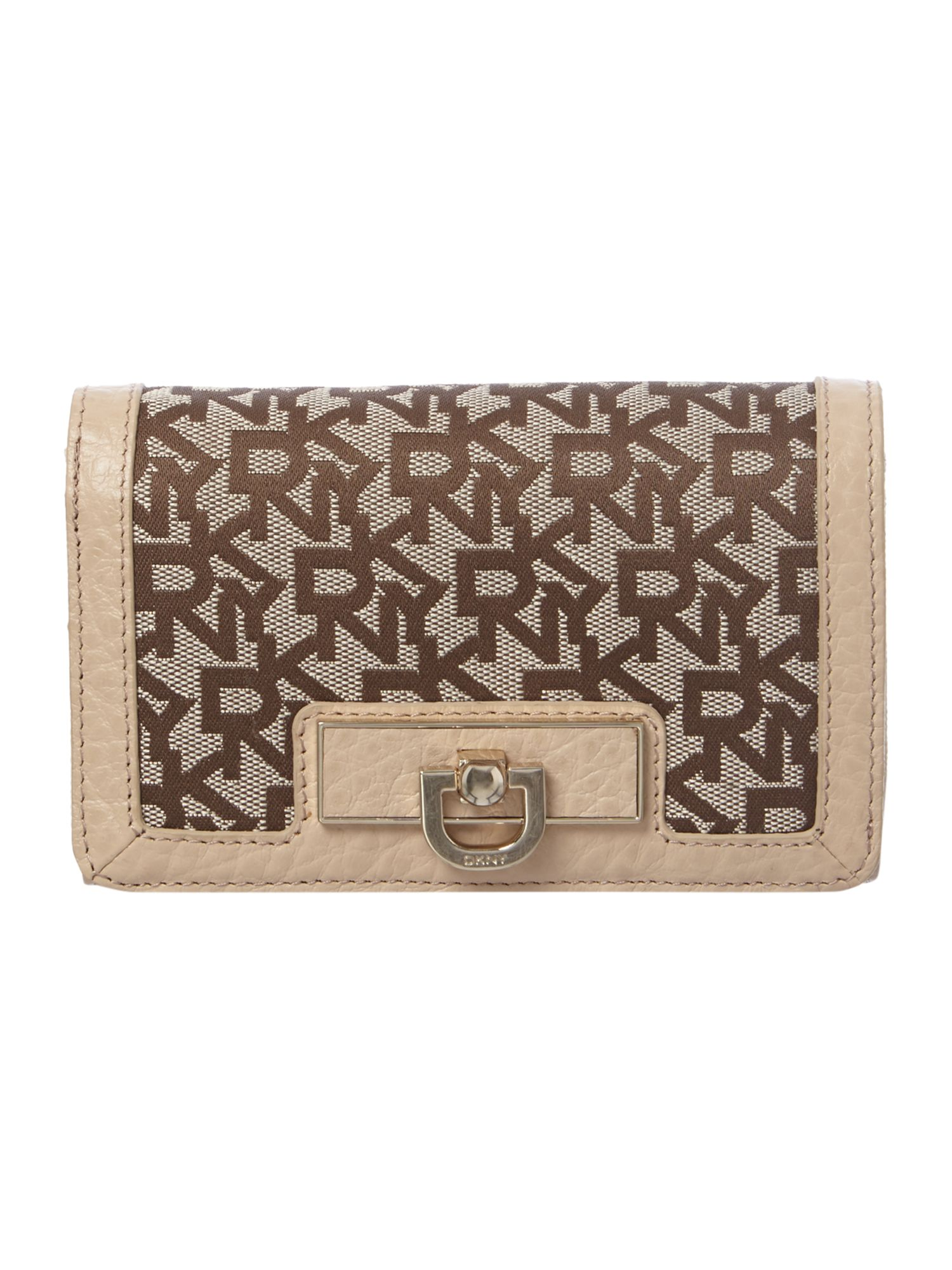 French Grain tan flap over purse