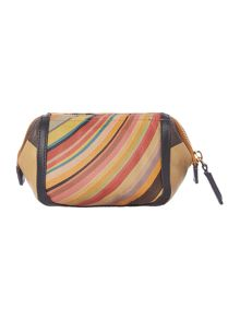 Multi coloured swirl cosmetics bag