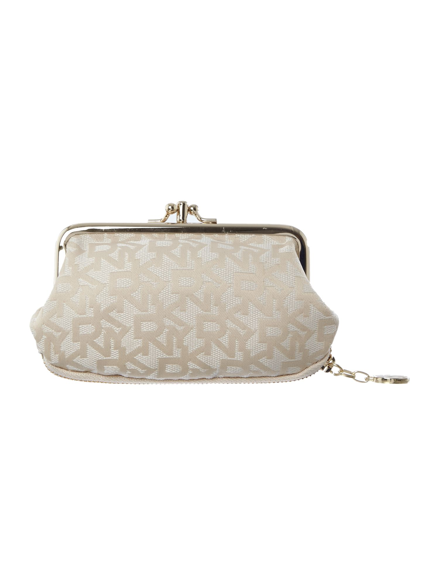 Saffiano white small coin purse