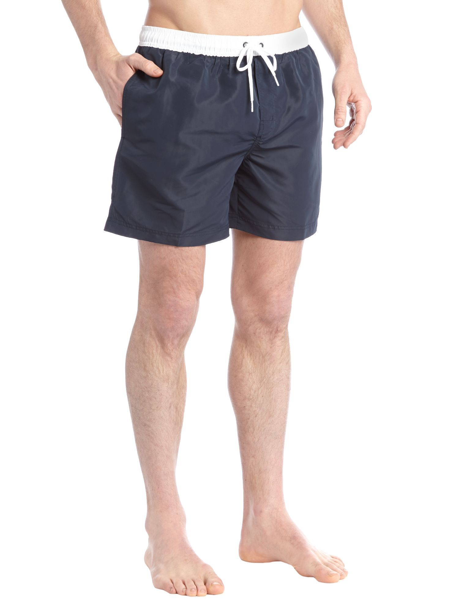 Contrast waistband quick dry swim short
