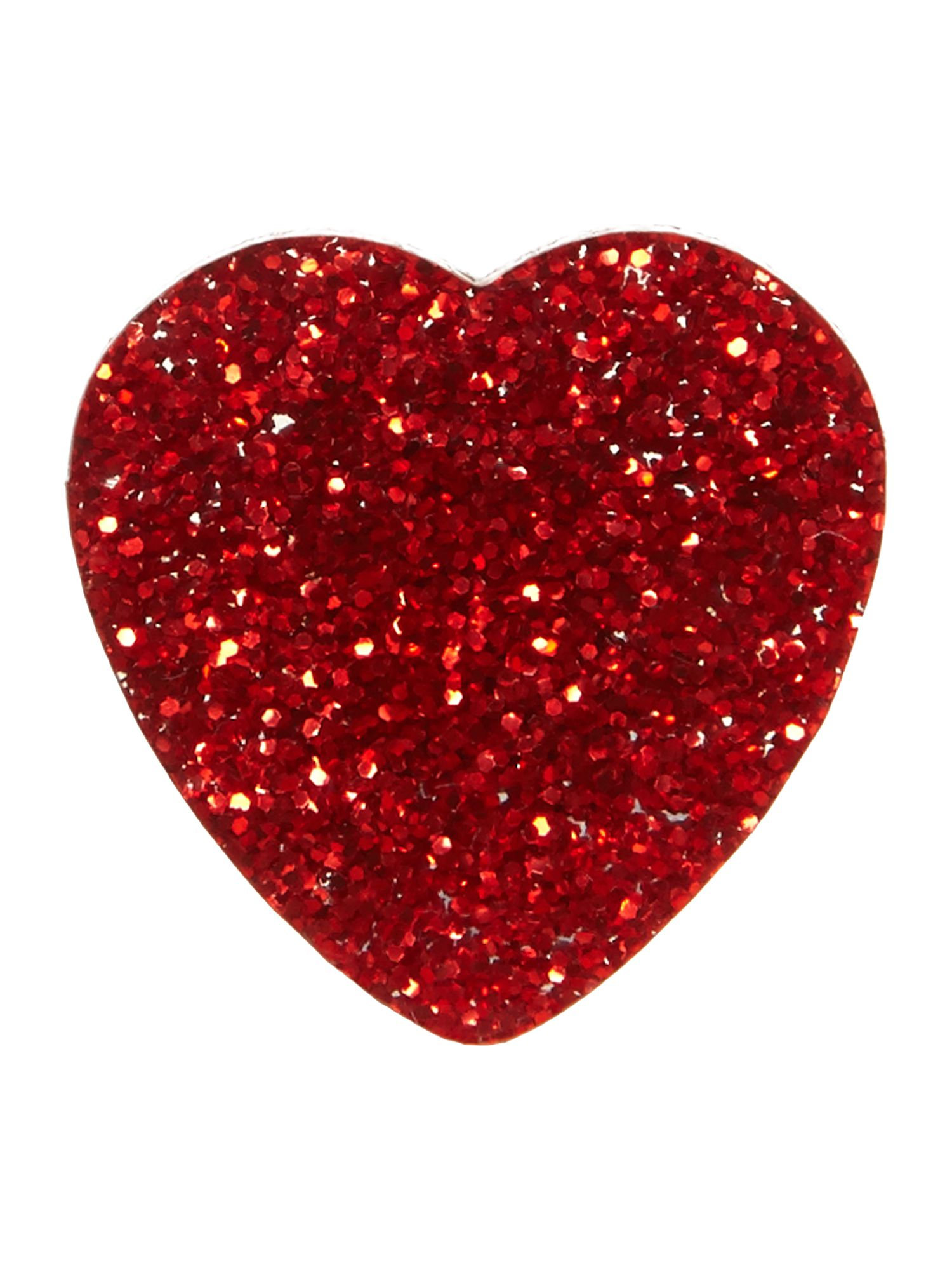 Red glitter heart ring